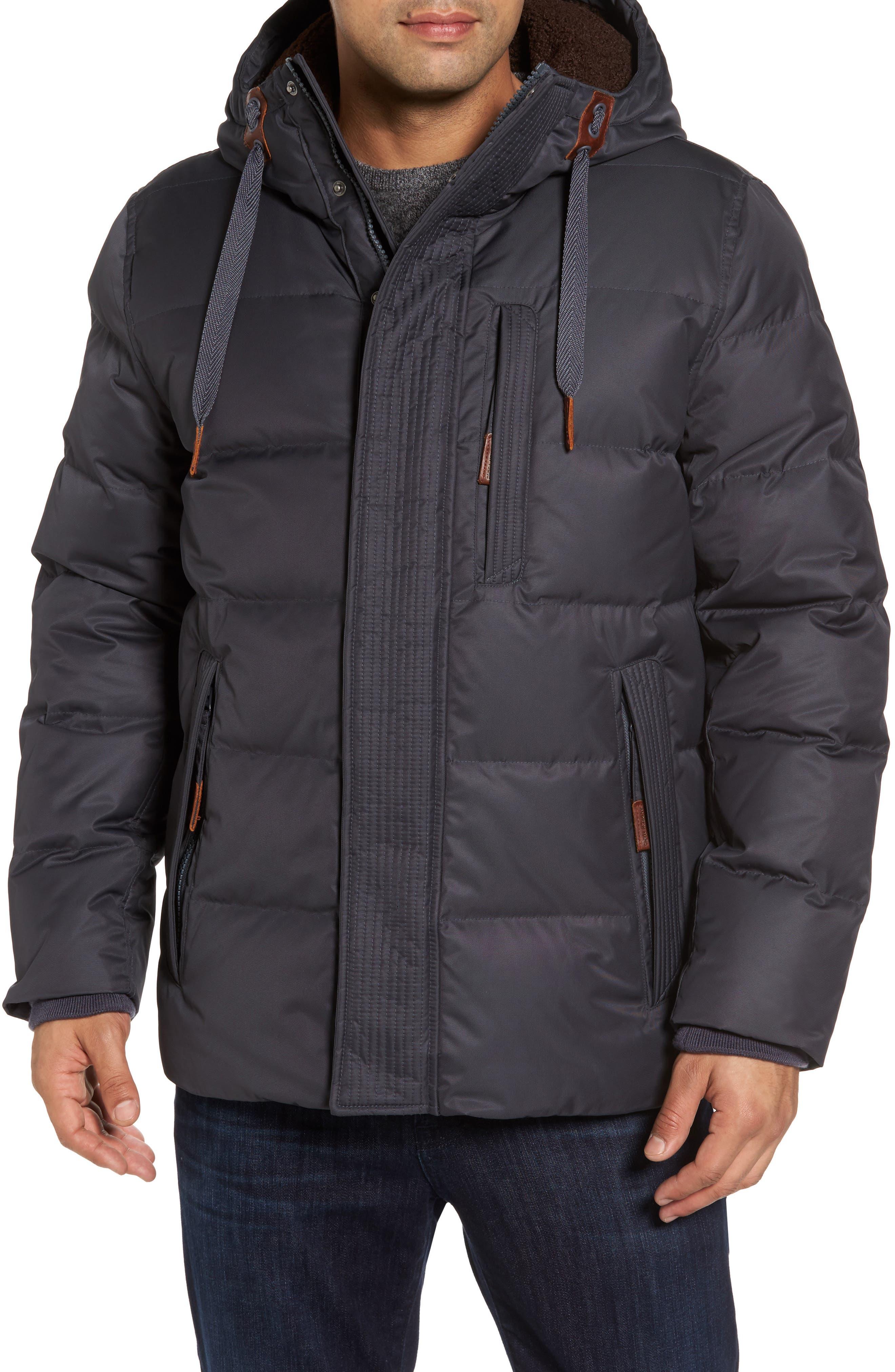 Groton Slim Down Jacket with Faux Shearling Lining,                             Main thumbnail 2, color,