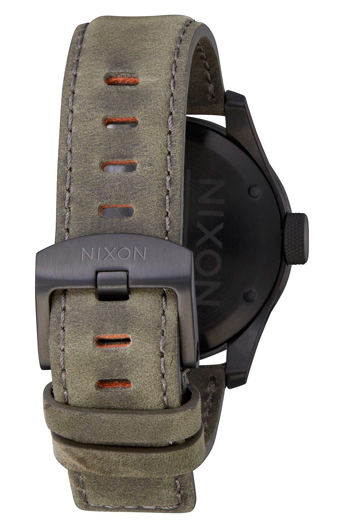 'Safari' Leather Strap Watch, 43mm,                             Alternate thumbnail 14, color,
