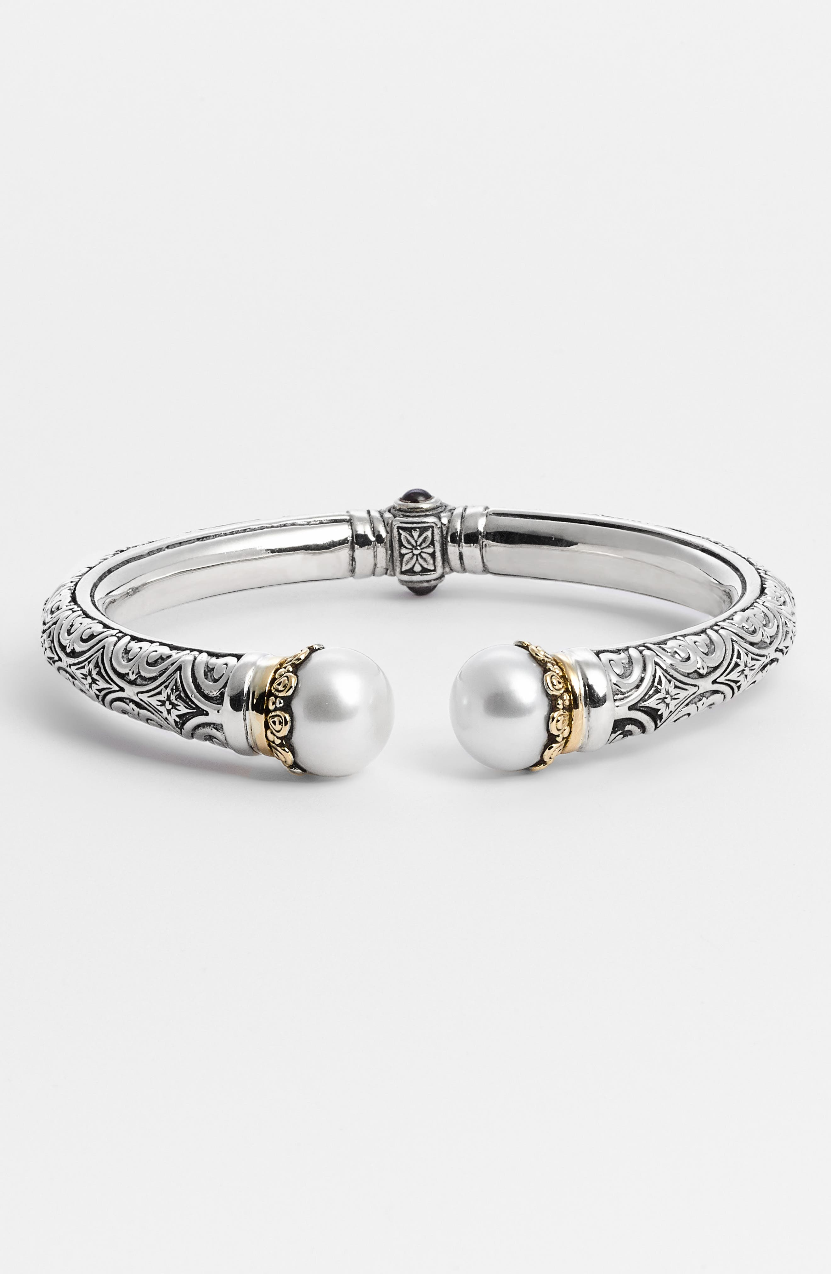 KONSTANTINO,                             'Hermione' Hinged Cuff,                             Alternate thumbnail 2, color,                             SILVER/ GOLD