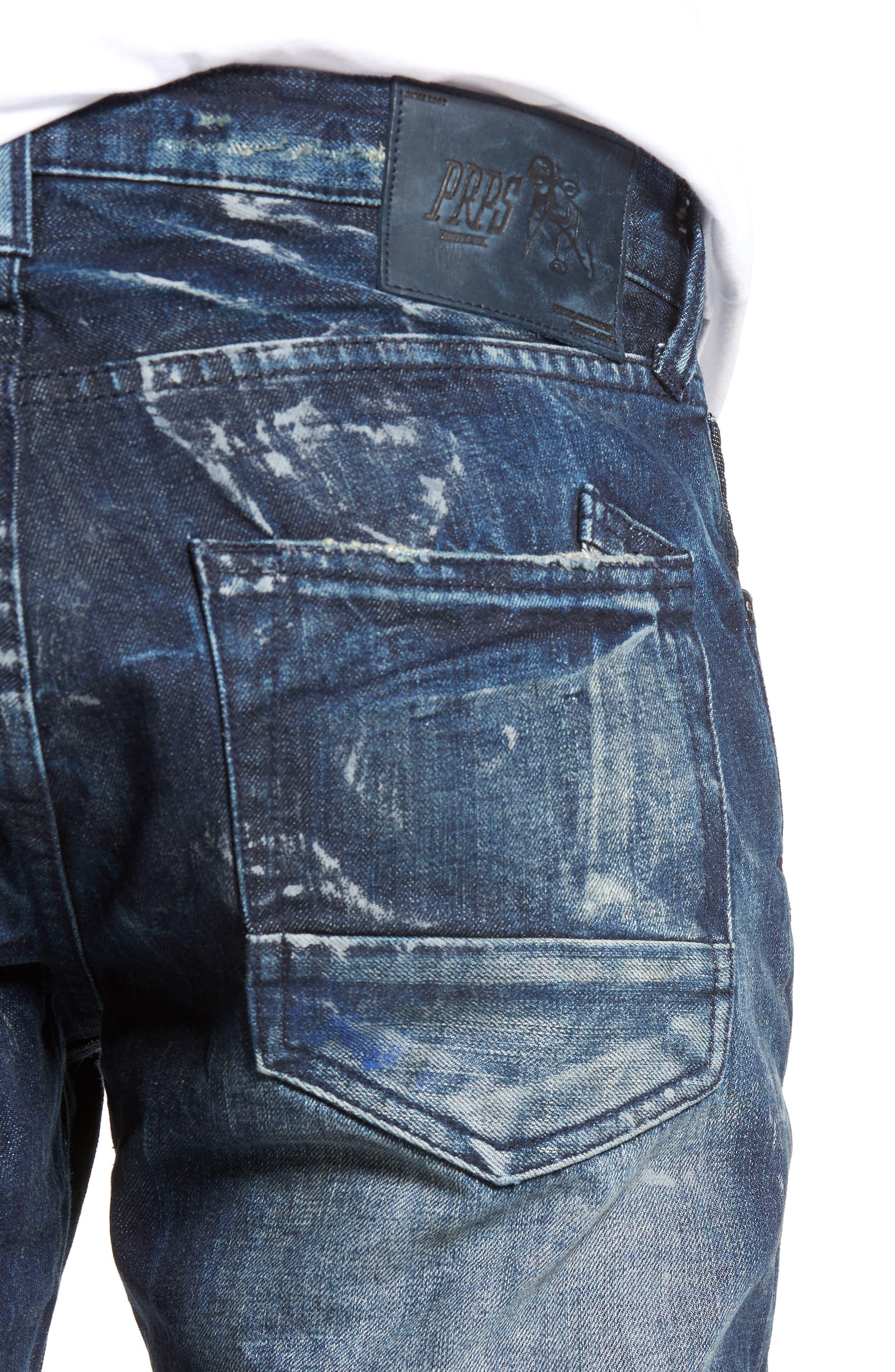 Slim Straight Leg Jeans,                             Alternate thumbnail 4, color,                             490