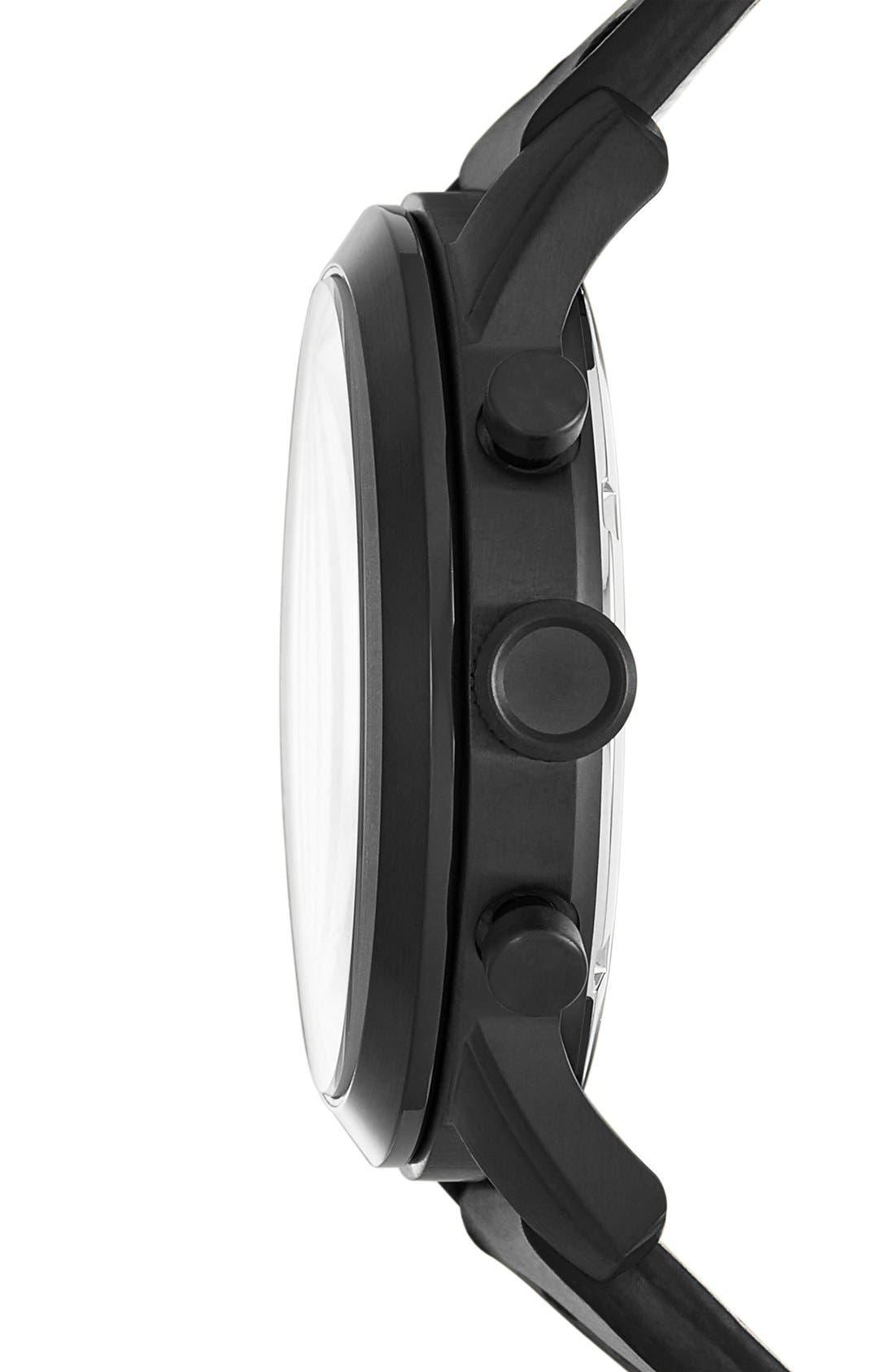 'Pilot 54' Chronograph Leather Strap Watch, 44mm,                             Alternate thumbnail 2, color,                             001