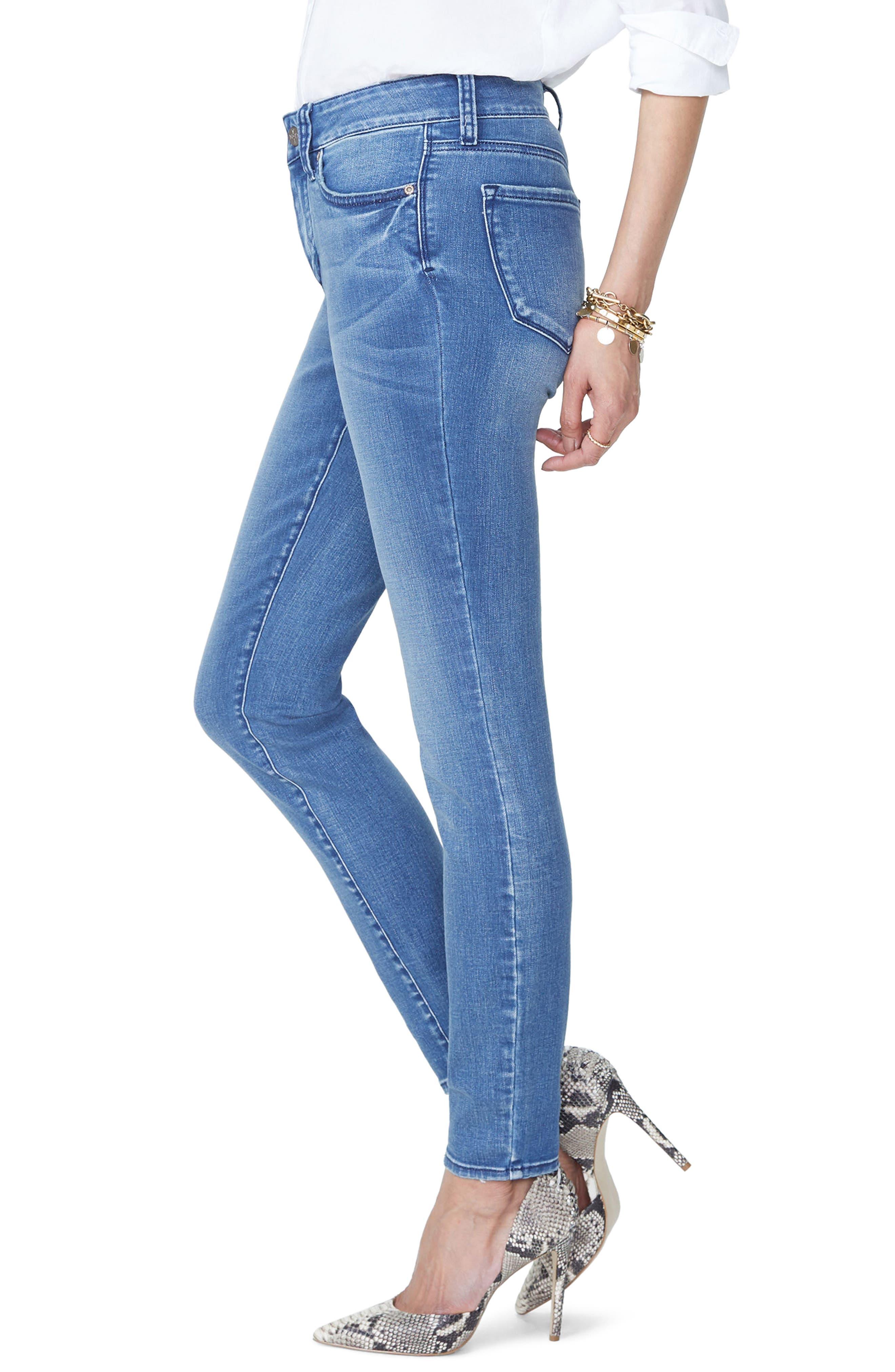 Ami High Waist Stretch Skinny Jeans,                             Alternate thumbnail 3, color,                             WISHFUL