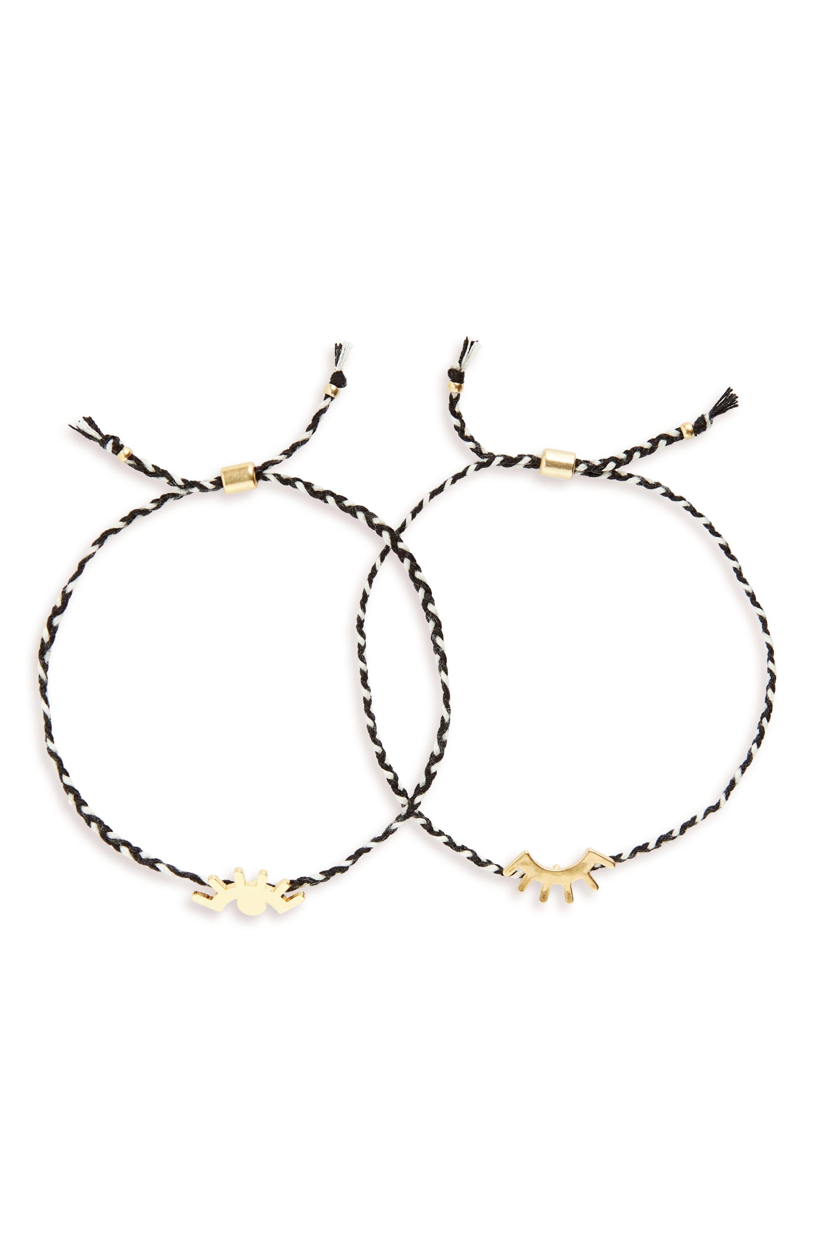 Madewell Set Of 2 Friendship Bracelets Nordstrom