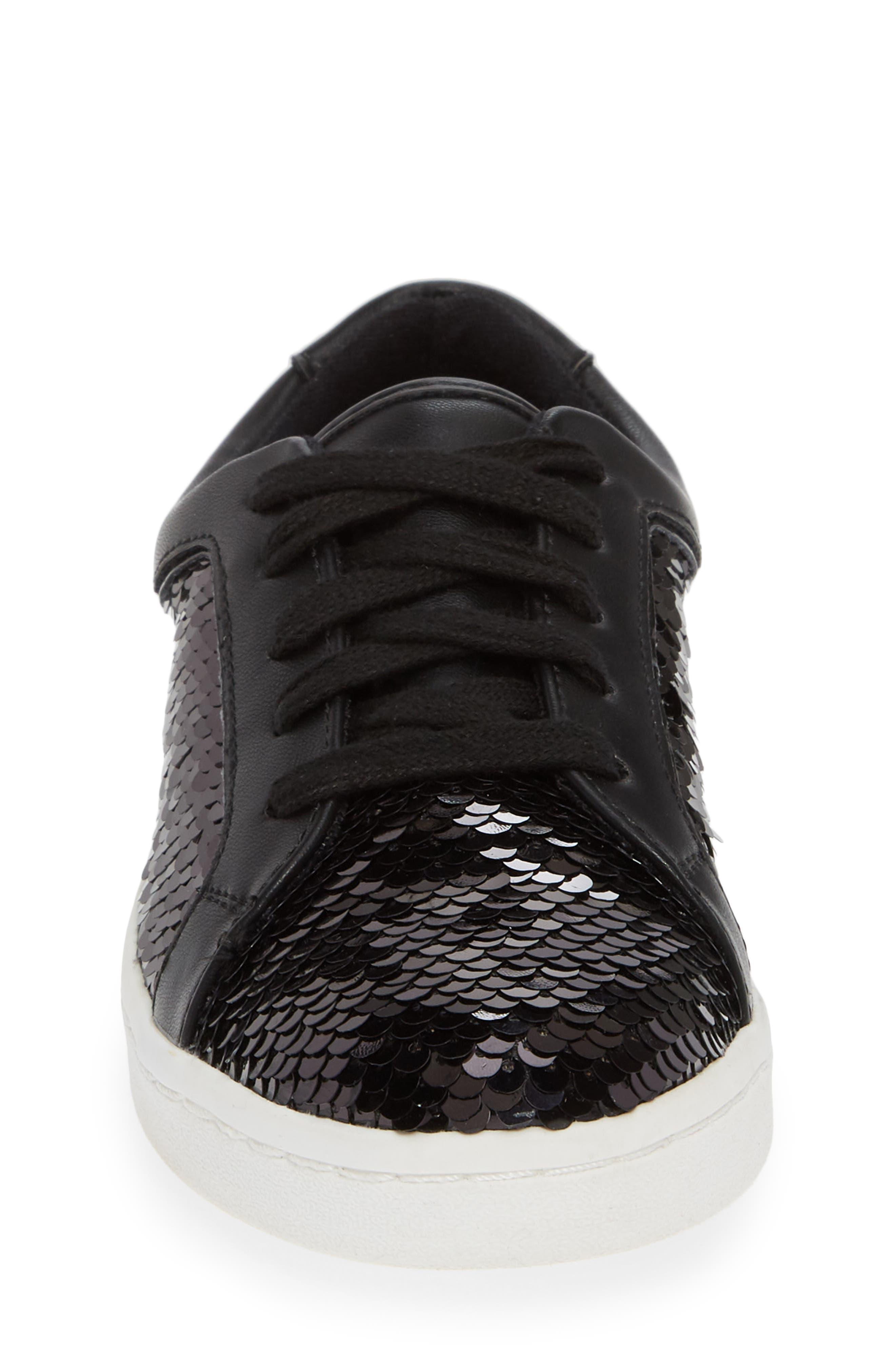 Blane Elizia Sequin Sneaker,                             Alternate thumbnail 4, color,                             BLACK SILVER