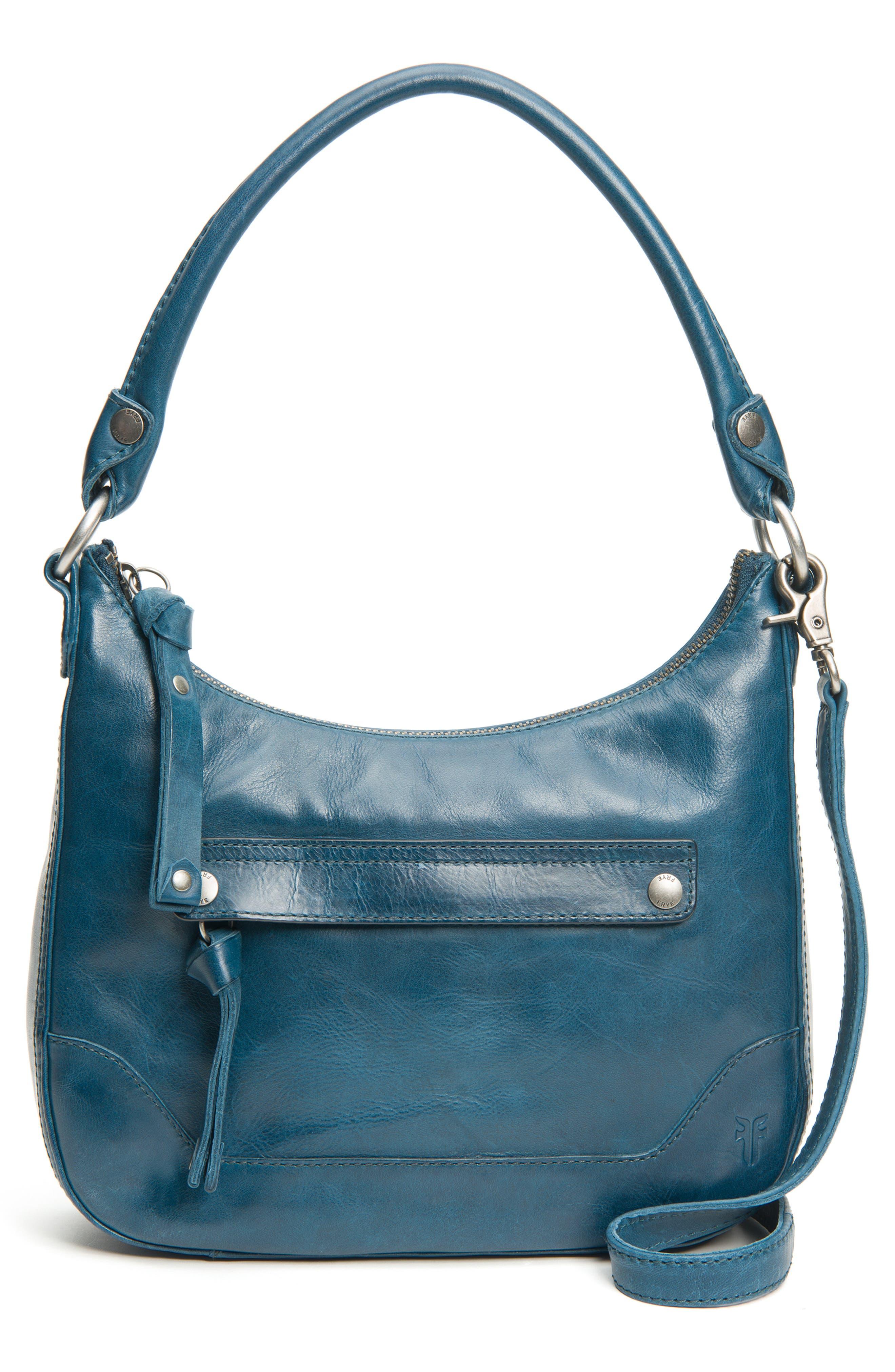 Small Melissa Leather Hobo Bag,                             Main thumbnail 2, color,