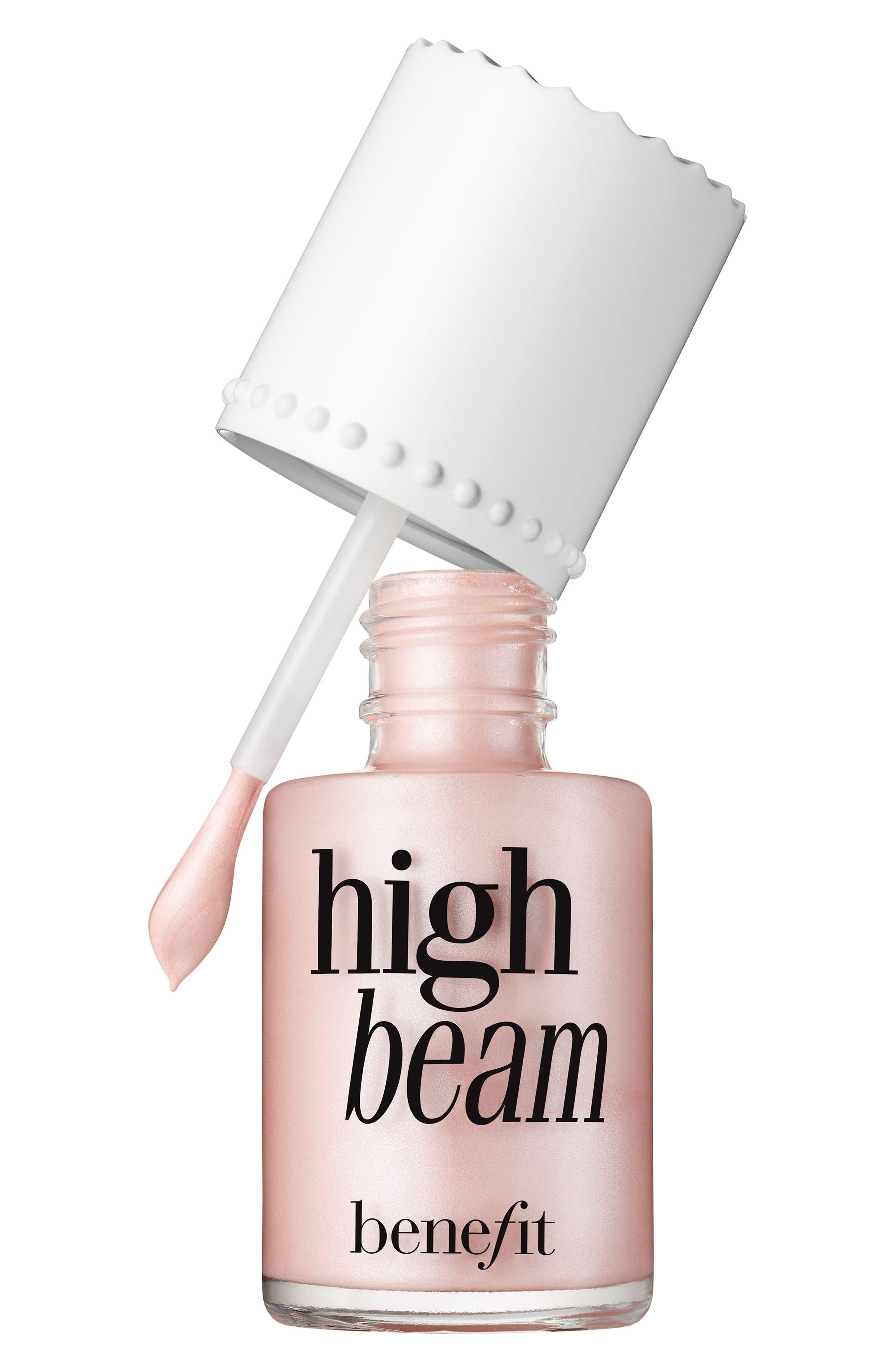 Benefit High Beam Satiny Pink Liquid Highlighter,                             Main thumbnail 1, color,                             PINK