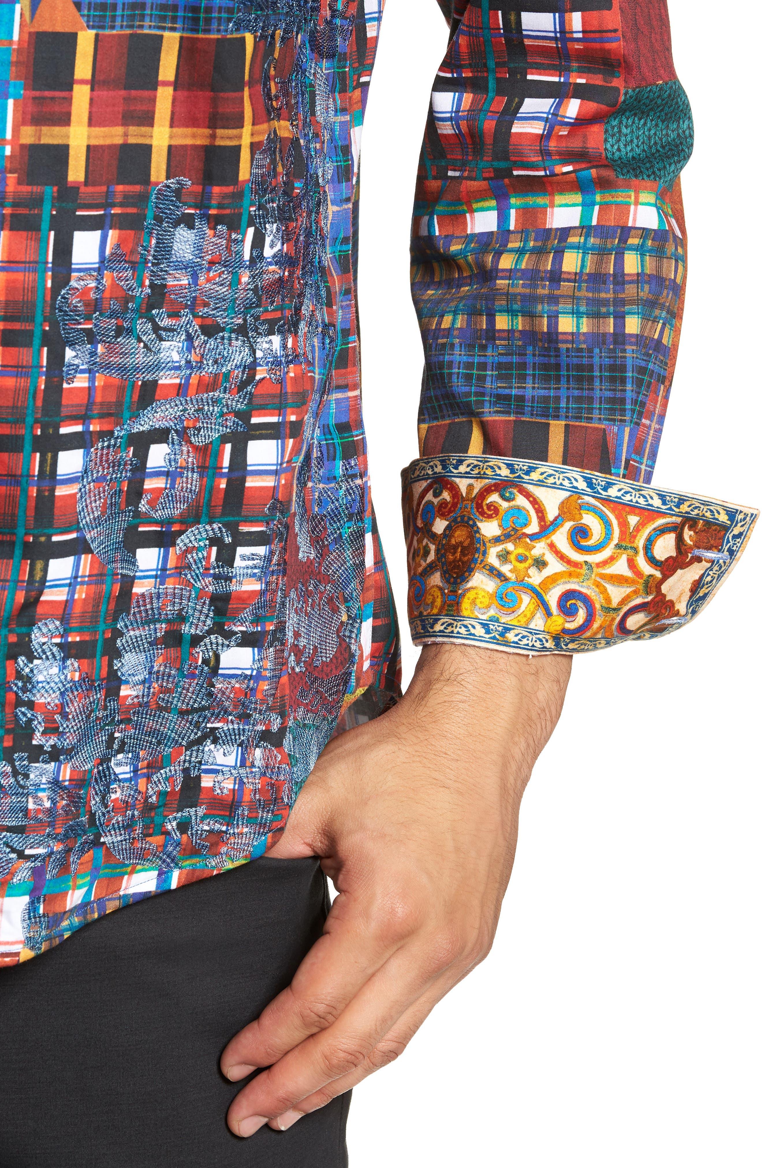 ROBERT GRAHAM,                             Hurst Classic Fit Sport Shirt,                             Alternate thumbnail 2, color,                             600