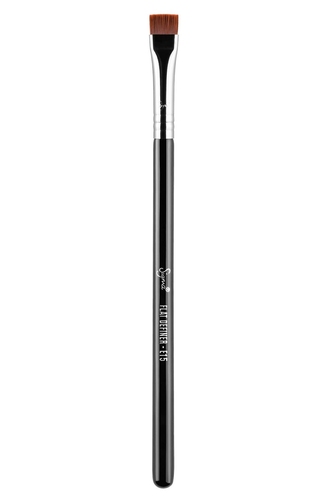 E15 Flat Definer Brush,                             Main thumbnail 1, color,                             NO COLOR