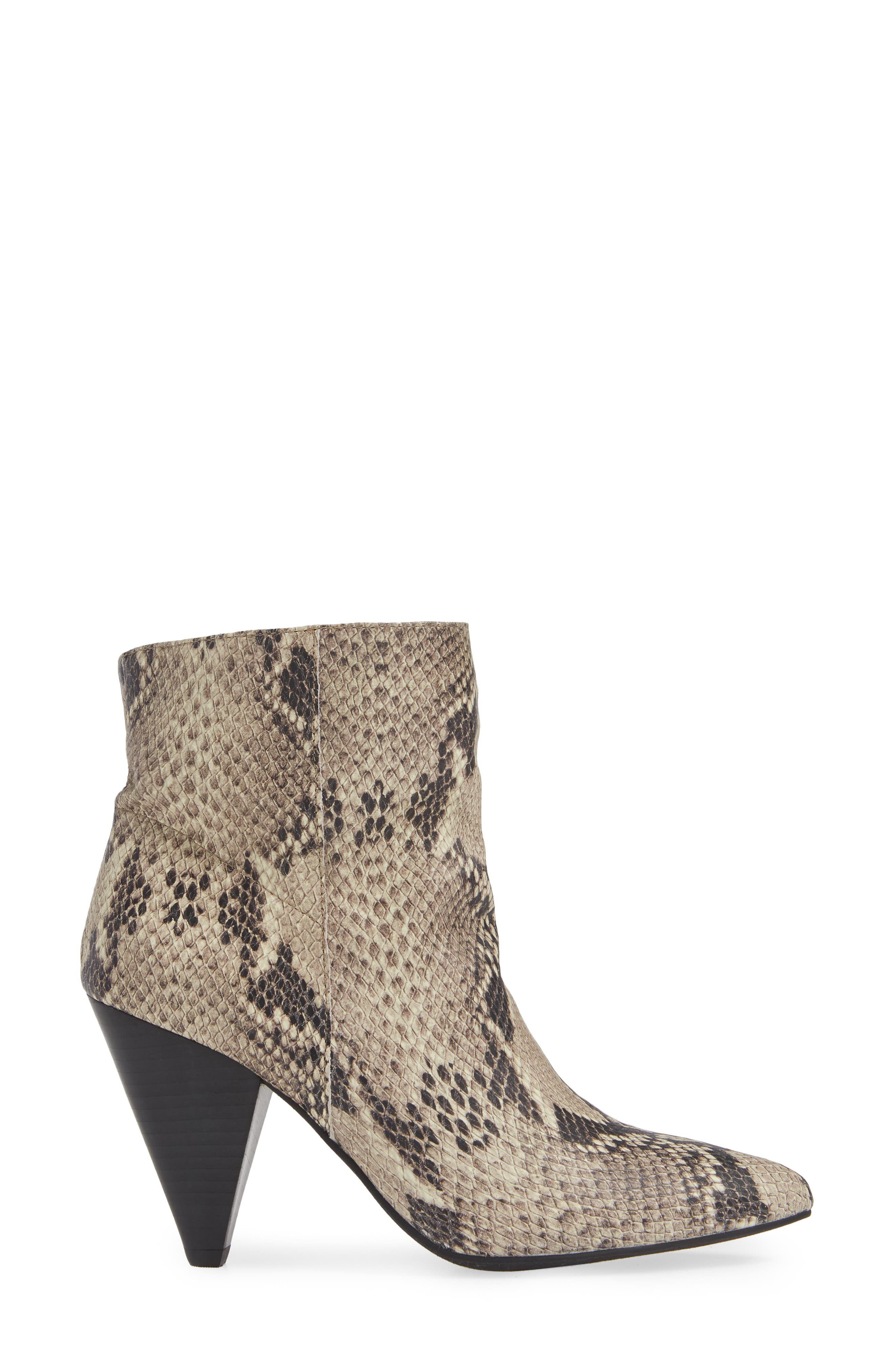 Scope Bootie,                             Alternate thumbnail 3, color,                             PRINTED NATURAL SNAKE LEATHER