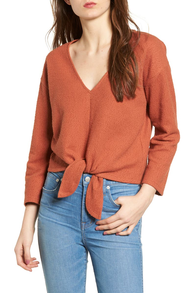 b594f282ddb Madewell Textured Tie Front Top