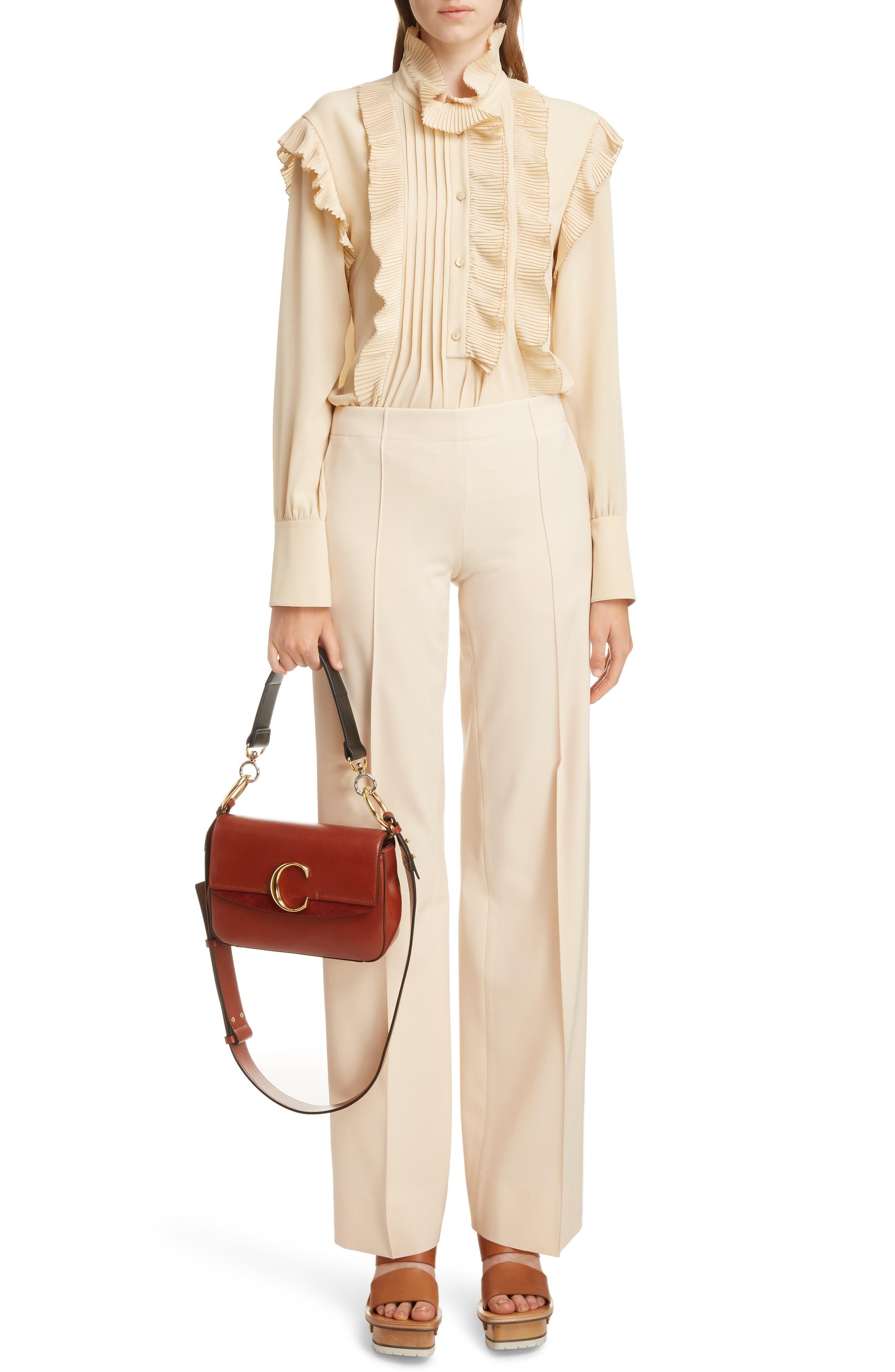 Leather Shoulder Bag,                             Alternate thumbnail 2, color,                             SEPIA BROWN