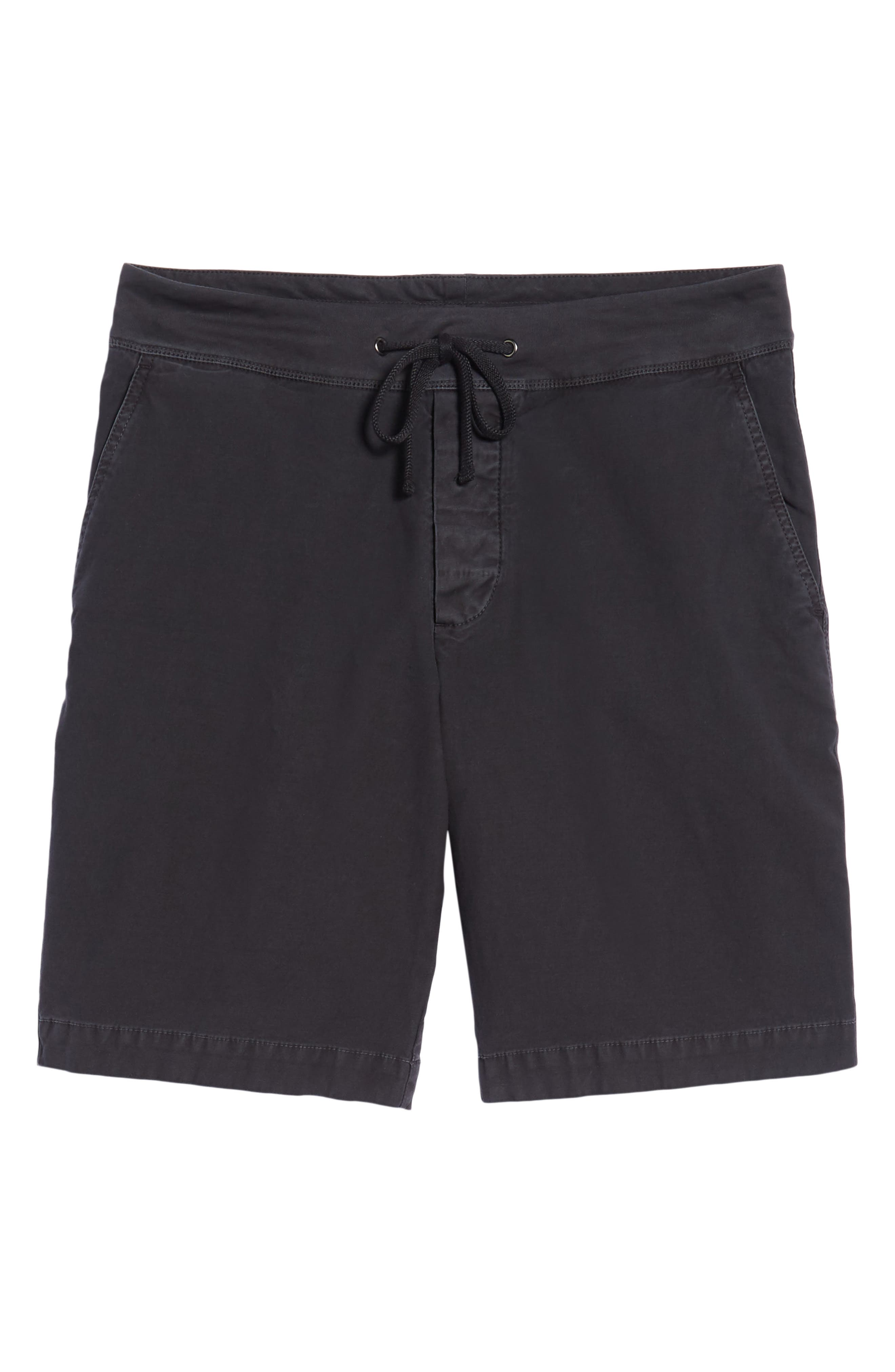 JAMES PERSE,                             Compact Stretch Cotton Shorts,                             Alternate thumbnail 6, color,                             020
