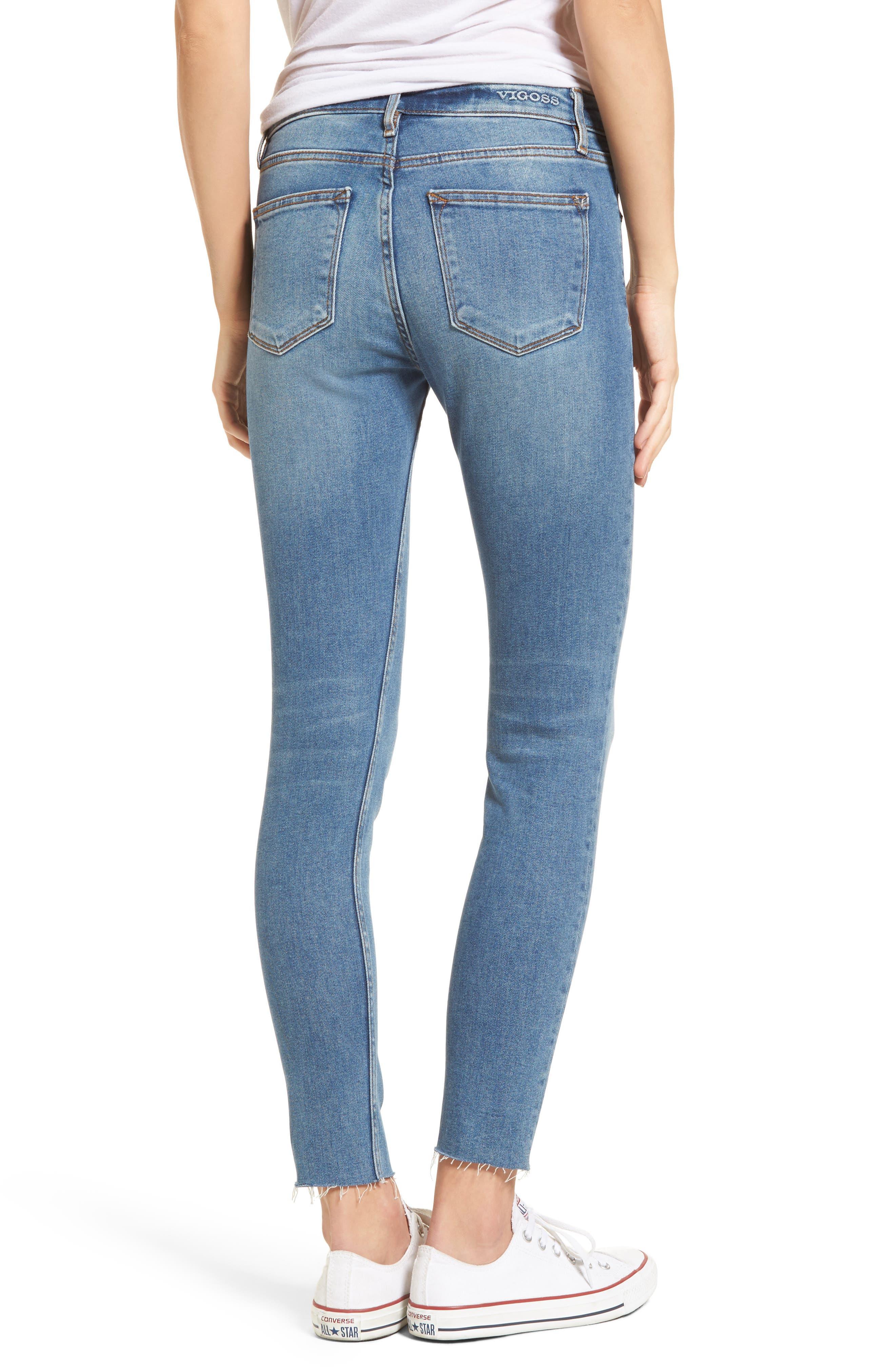 Marley Raw Hem Super Skinny Jeans,                             Alternate thumbnail 2, color,                             461