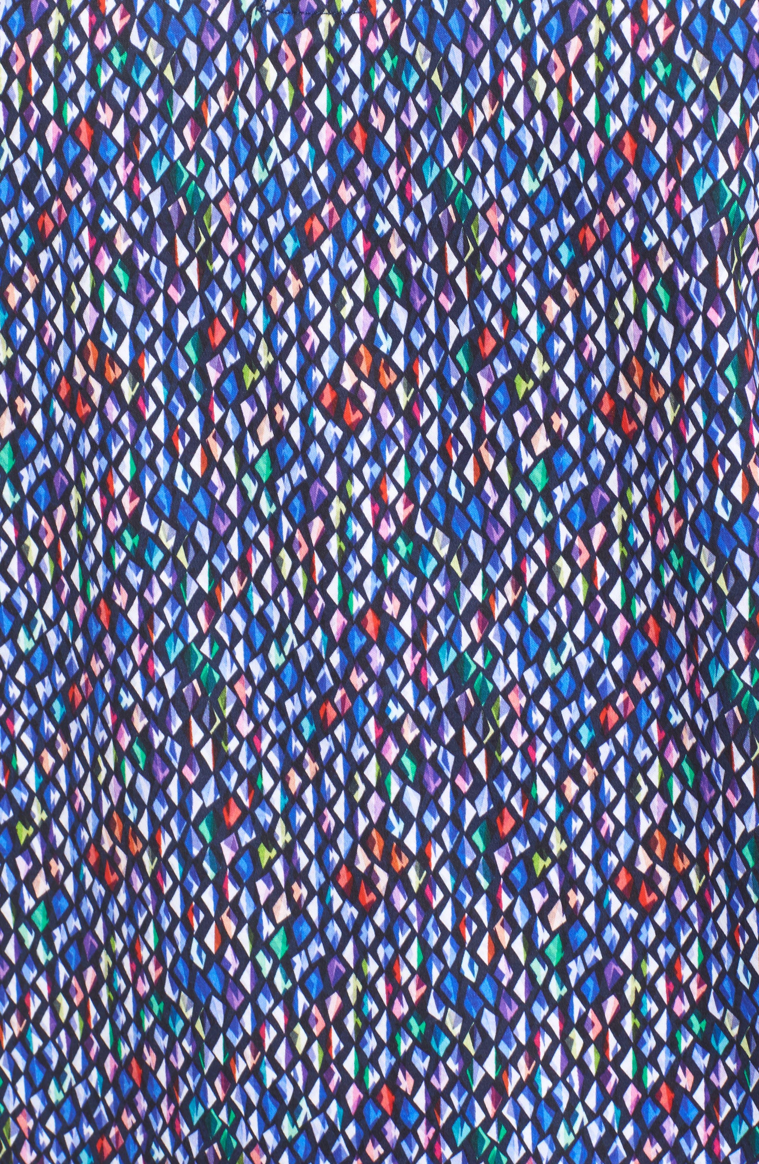 Classic Fit Diamond Print Polo,                             Alternate thumbnail 5, color,                             513