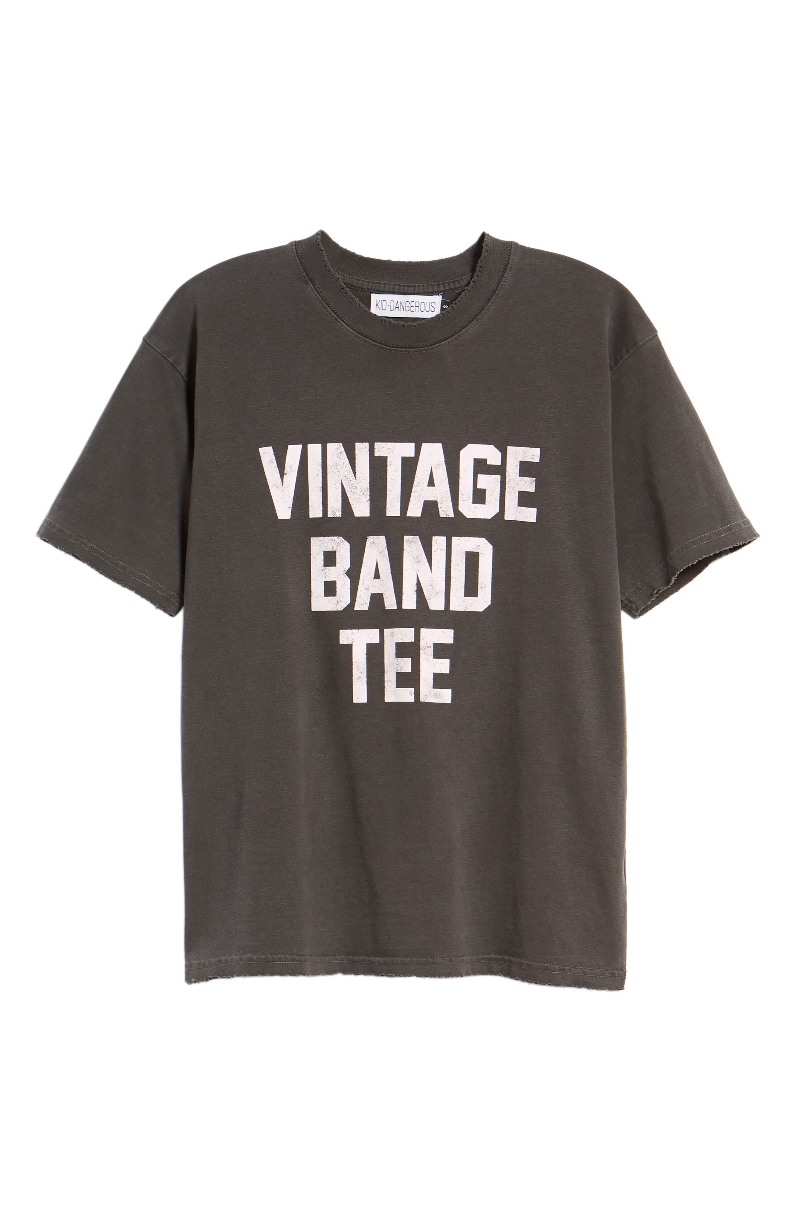 Vintage Band Tee,                             Alternate thumbnail 7, color,                             001
