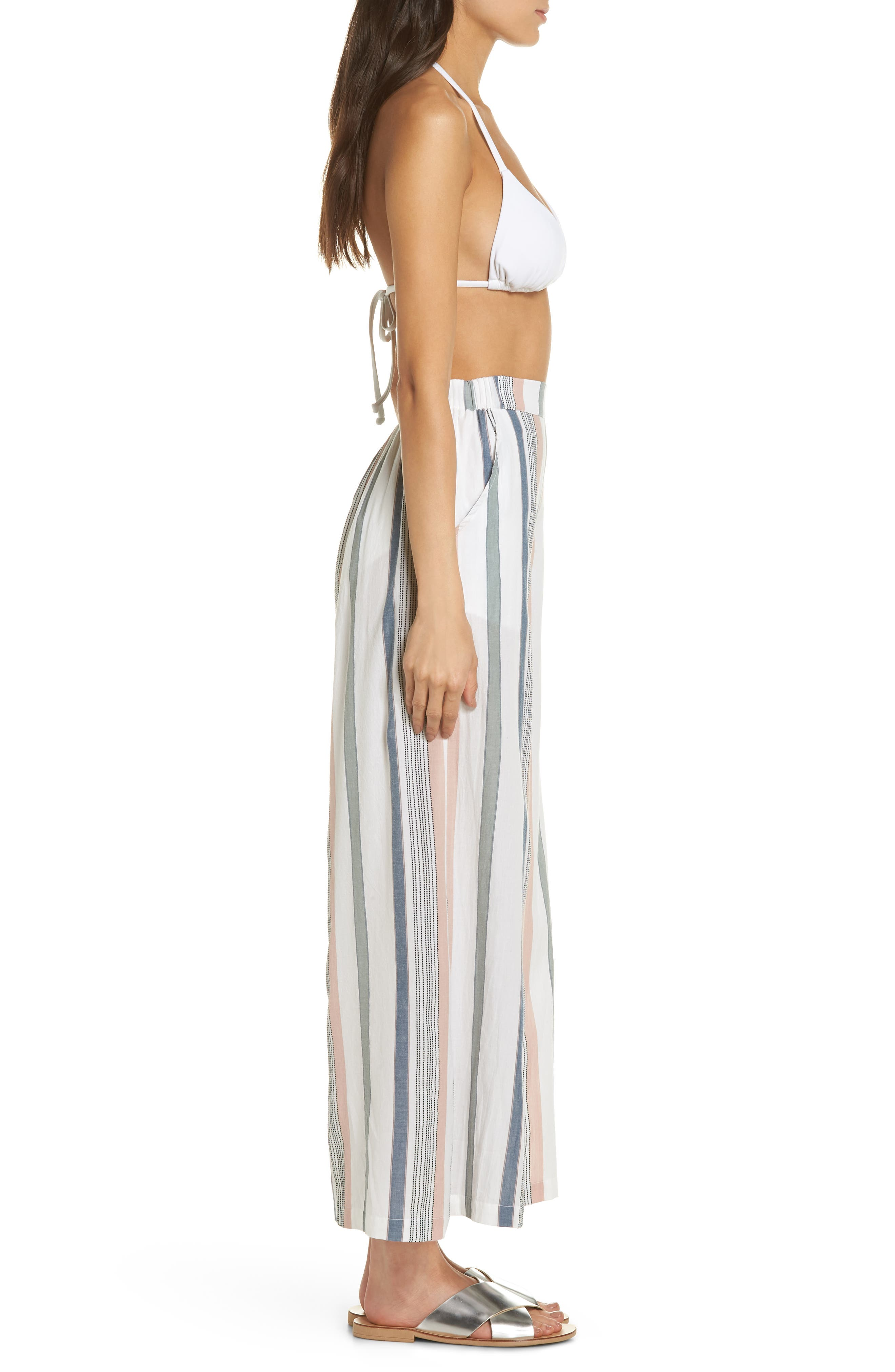 Hannah Cover-Up Pants,                             Alternate thumbnail 3, color,                             MEADOW GREEN STRIPE