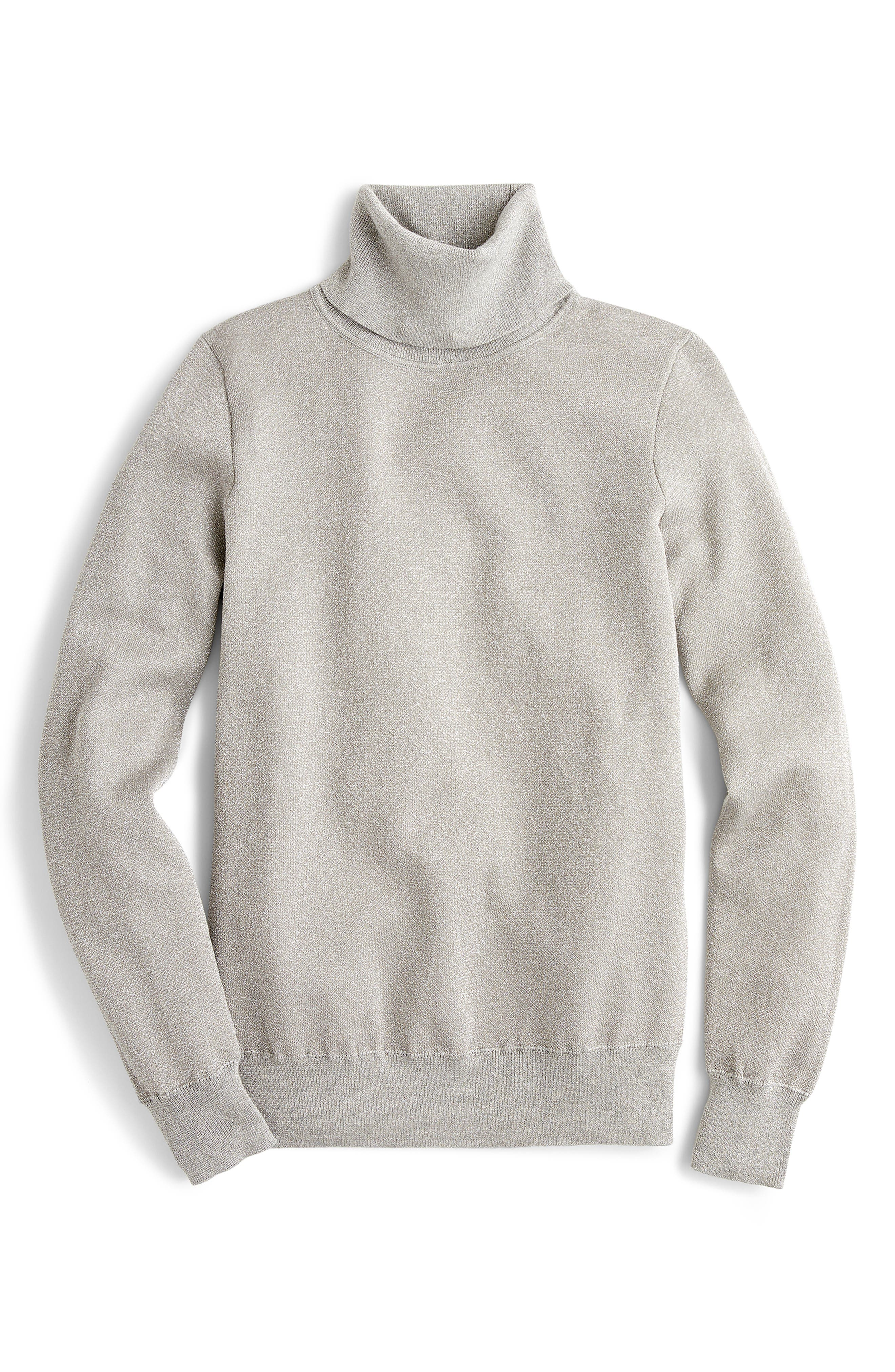 Tippi Lurex<sup>®</sup> Turtleneck Sweater,                             Main thumbnail 1, color,                             040