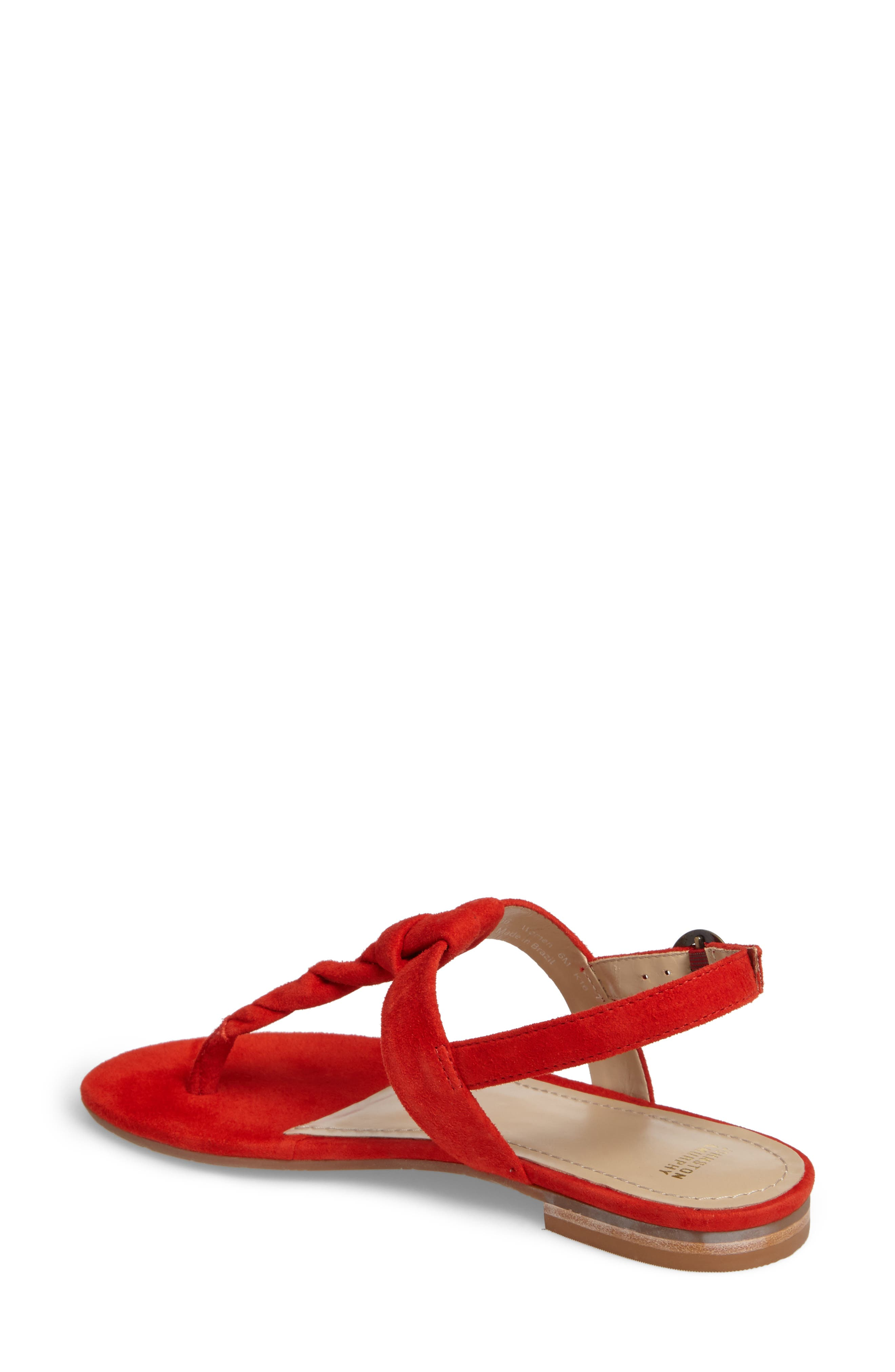 Holly Twisted T-Strap Sandal,                             Alternate thumbnail 9, color,