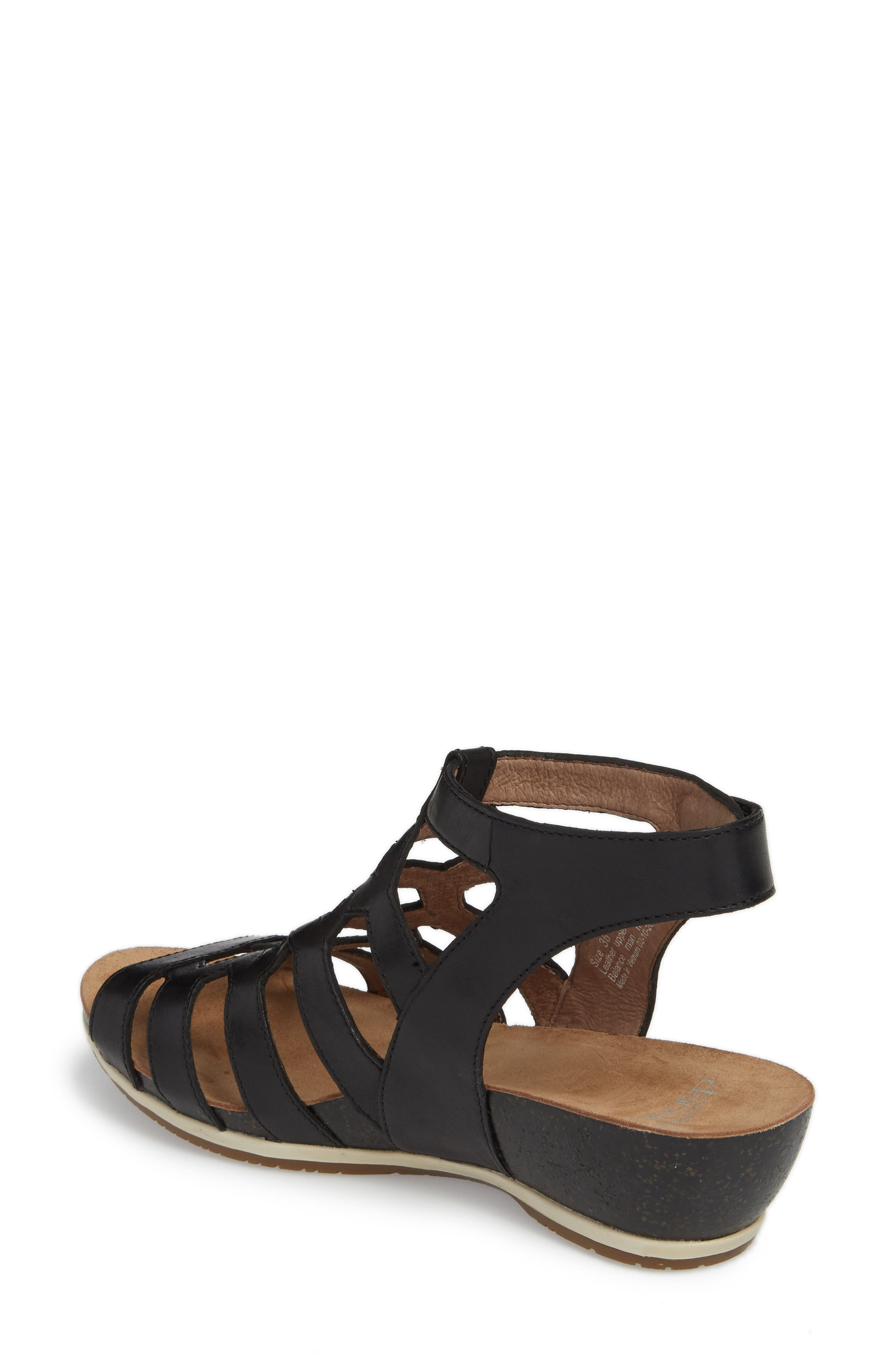 Valentina Caged Wedge Sandal,                             Alternate thumbnail 2, color,                             001