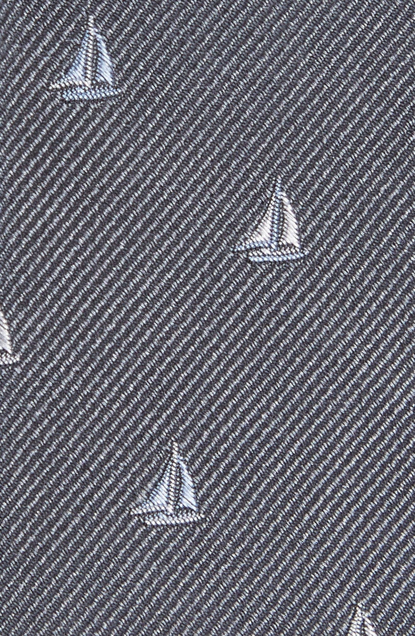 Sailboat Silk Skinny Tie,                             Alternate thumbnail 2, color,                             010
