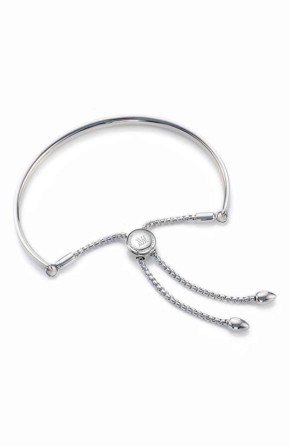 Engravable Fiji Petite Friendship Bracelet,                         Main,                         color, SILVER
