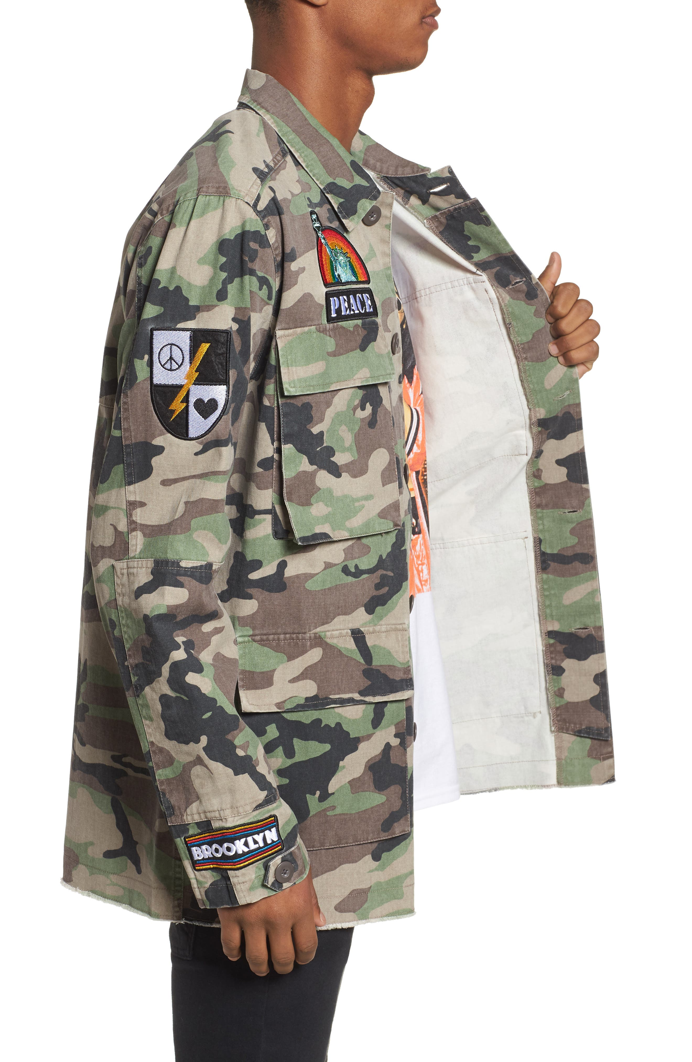 Military Patch Jacket,                             Alternate thumbnail 3, color,                             210
