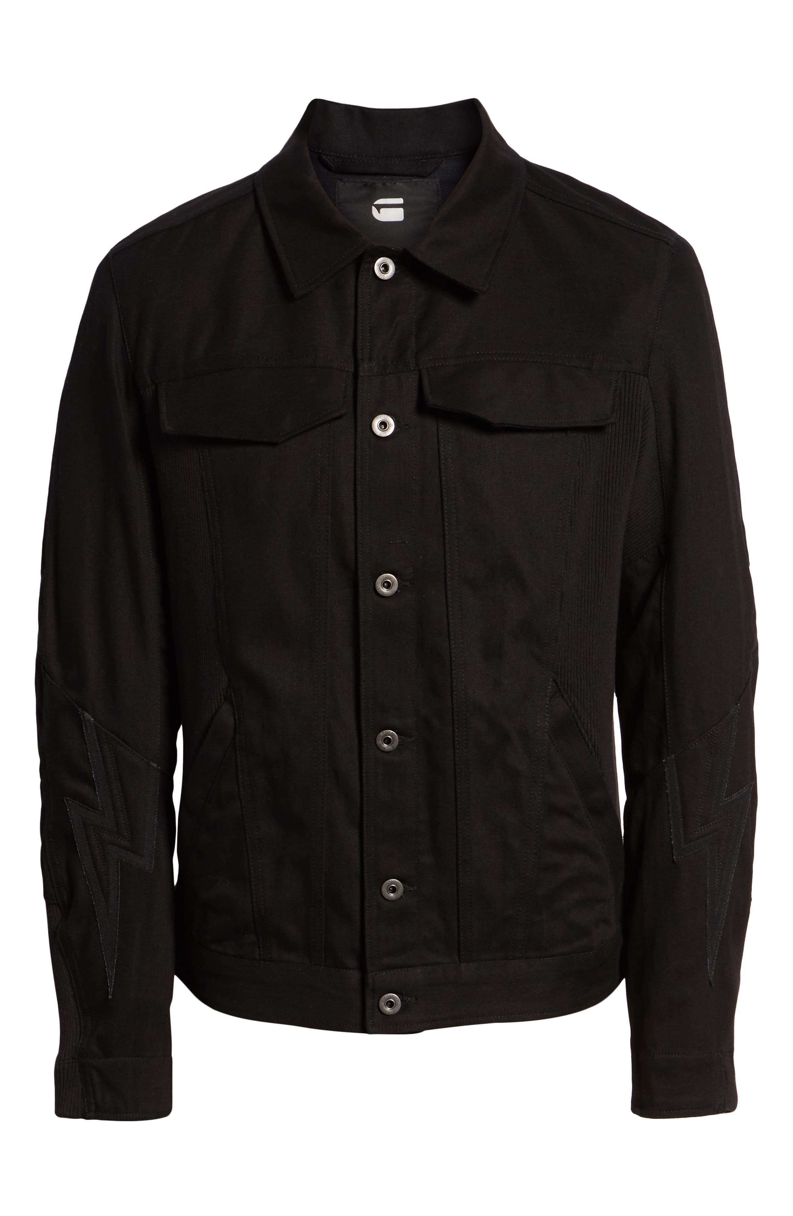 Motac-X Moto Uni Slim Cotton Denim Jacket,                             Alternate thumbnail 6, color,                             RAW DENIM
