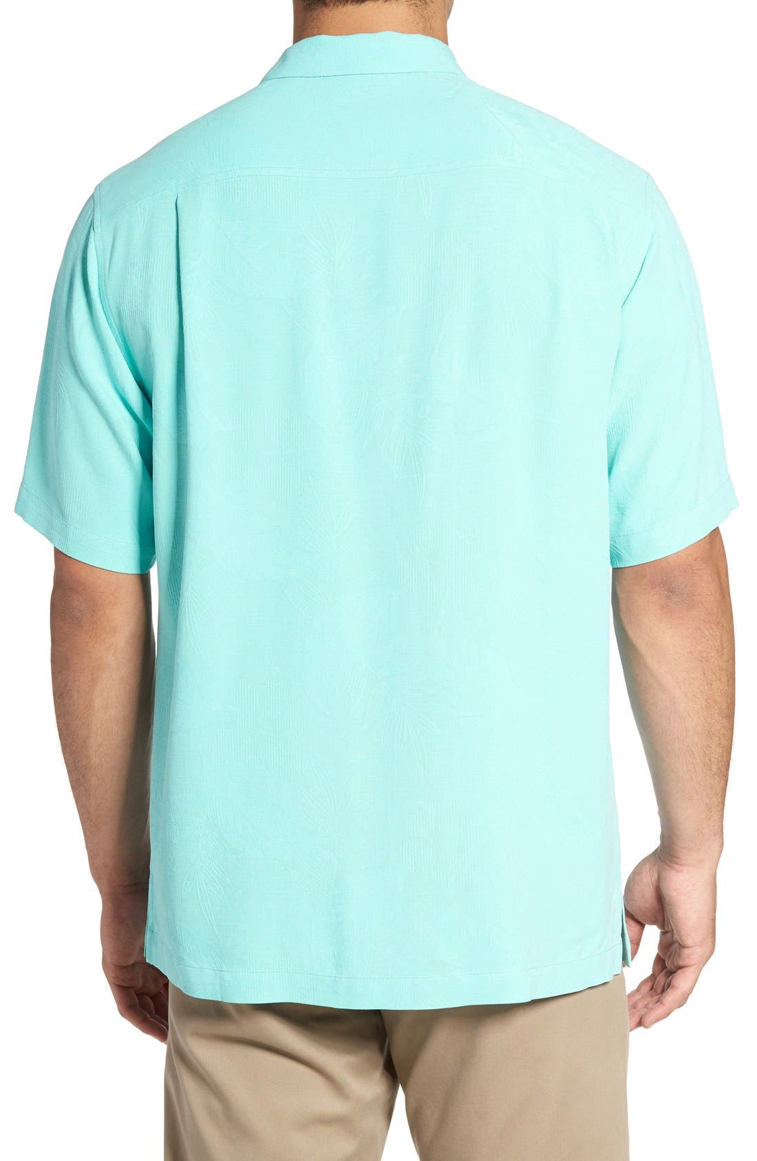 Rio Fronds Short Sleeve Silk Sport Shirt,                             Alternate thumbnail 96, color,