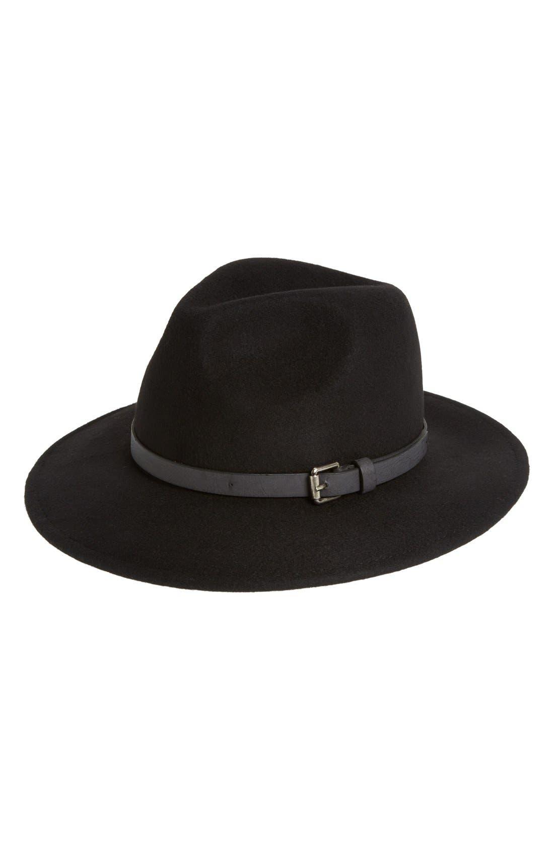 Wool Panama Hat,                             Main thumbnail 1, color,                             001