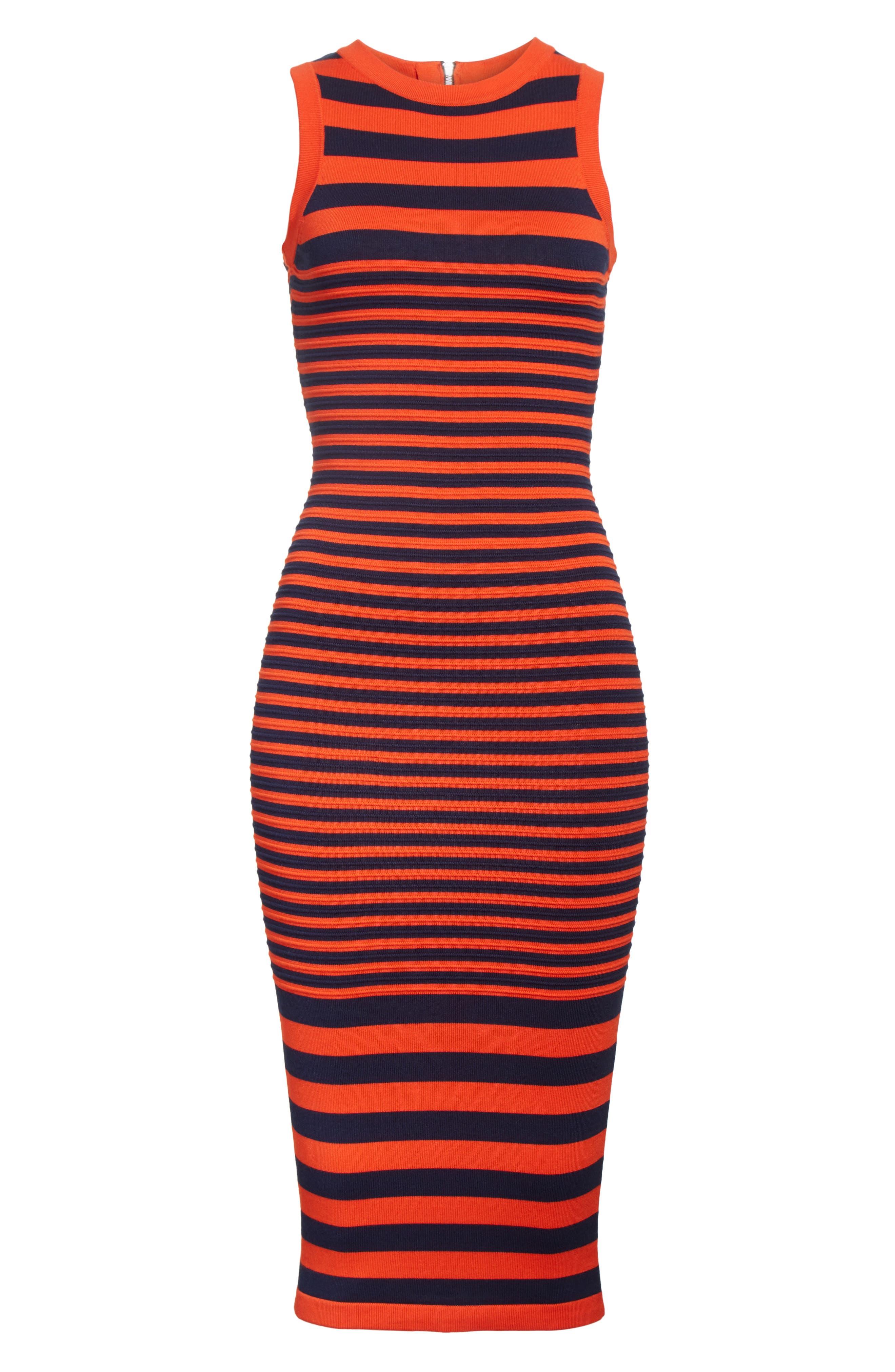 Stripe Ottoman Sweater Dress,                             Alternate thumbnail 6, color,                             477