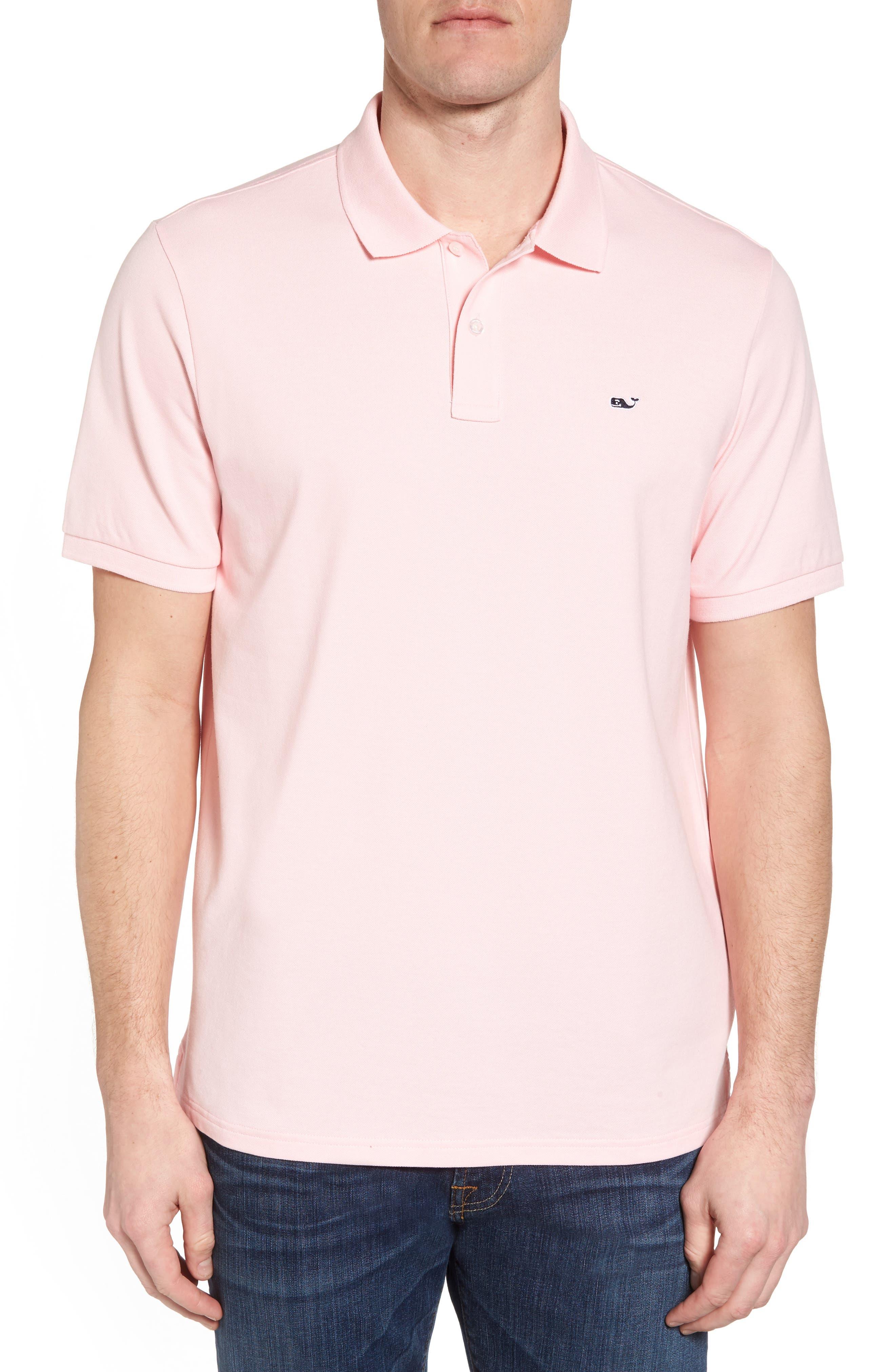 VINEYARD VINES Pique Regular Fit Polo Shirt in Flamingo