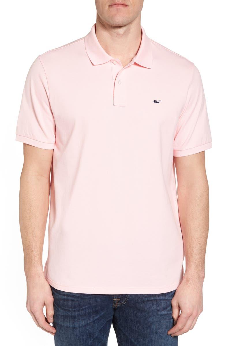 Vineyard Vines Pique Regular Fit Polo Shirt In Flamingo Modesens