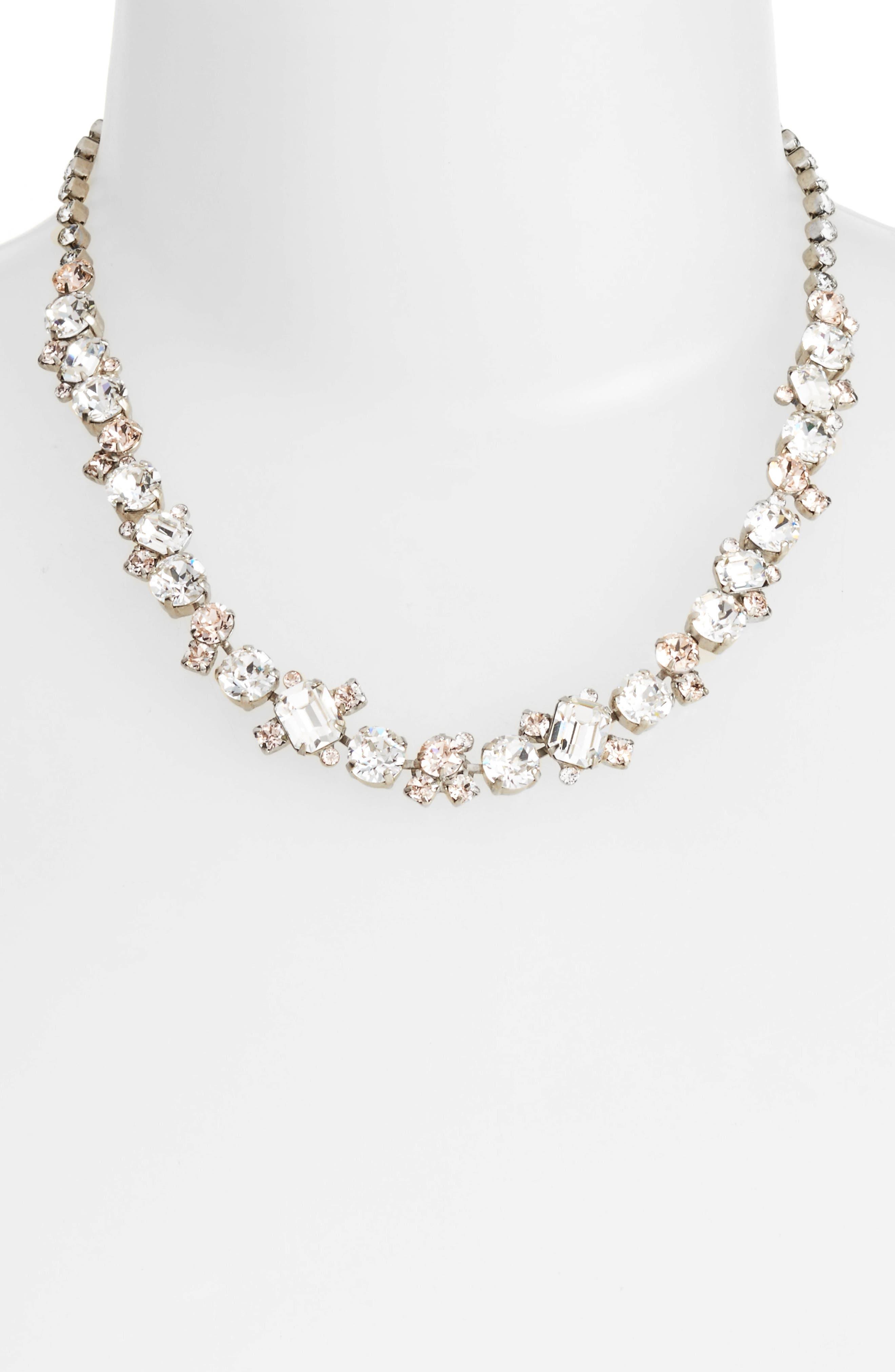 SORRELLI,                             Crystal Collar Necklace,                             Alternate thumbnail 2, color,                             116