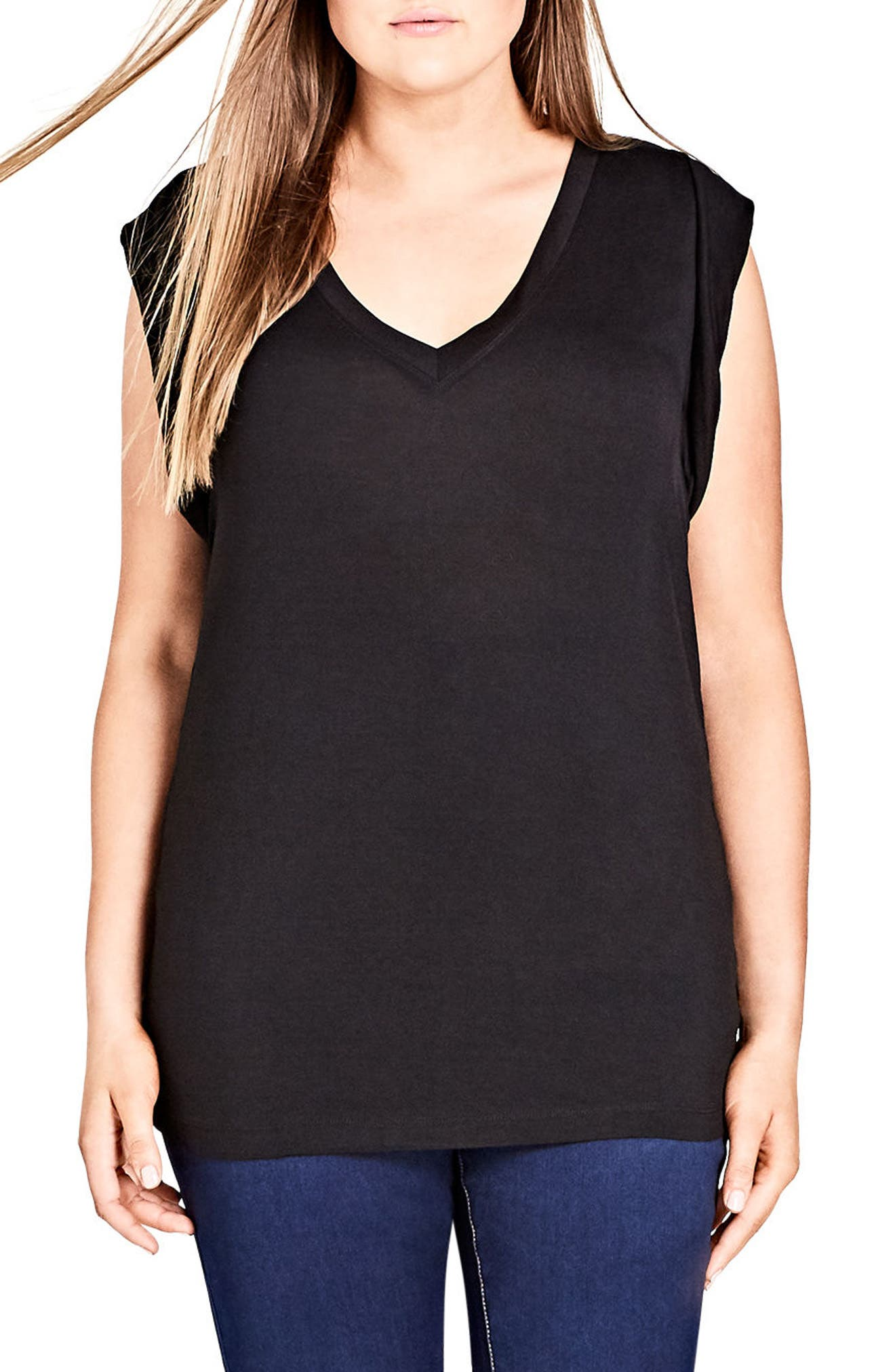 V-Neck Tee,                             Main thumbnail 1, color,