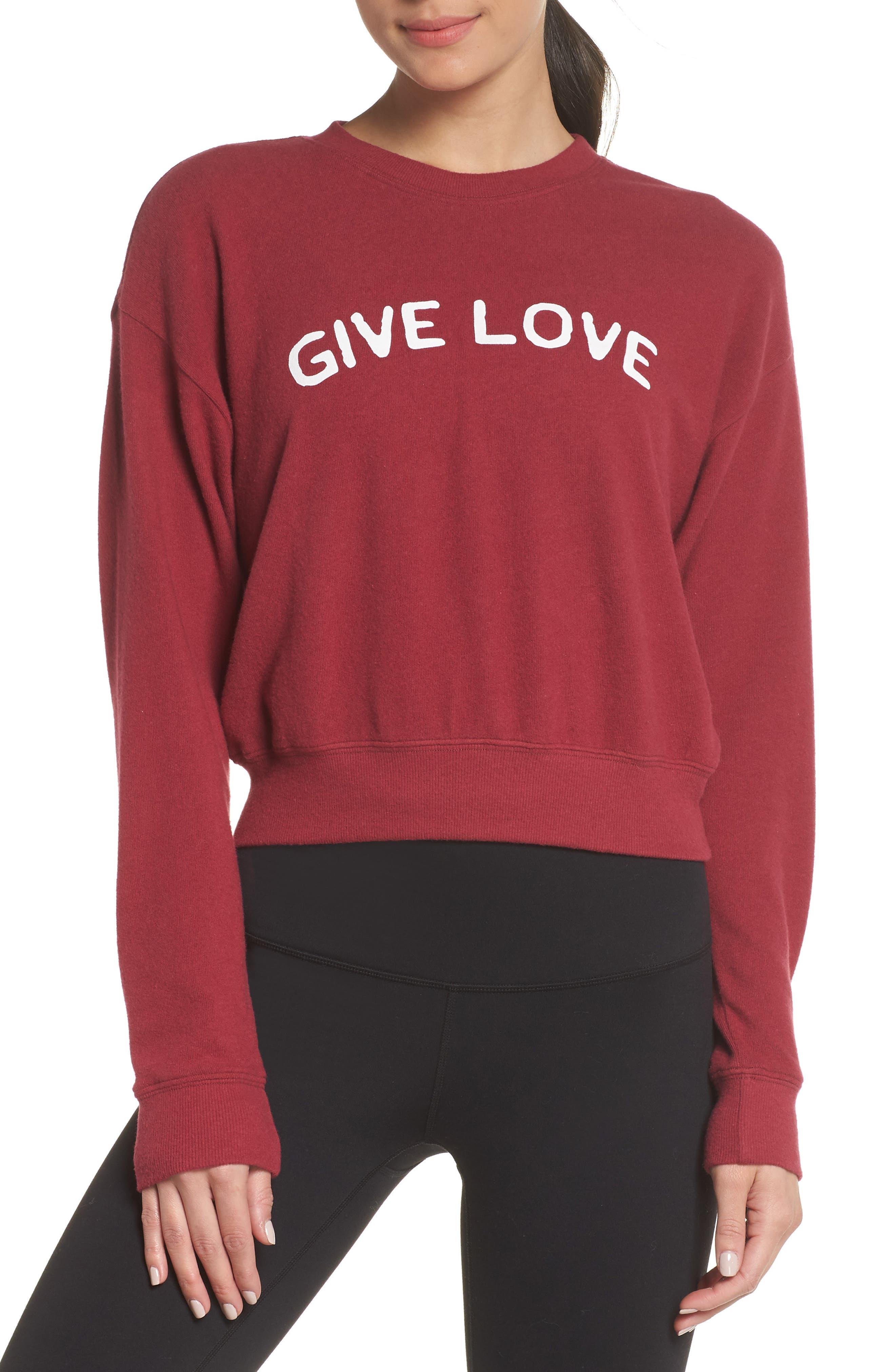 Malibu Give Love Crewneck Sweatshirt by Spiritual Gangster