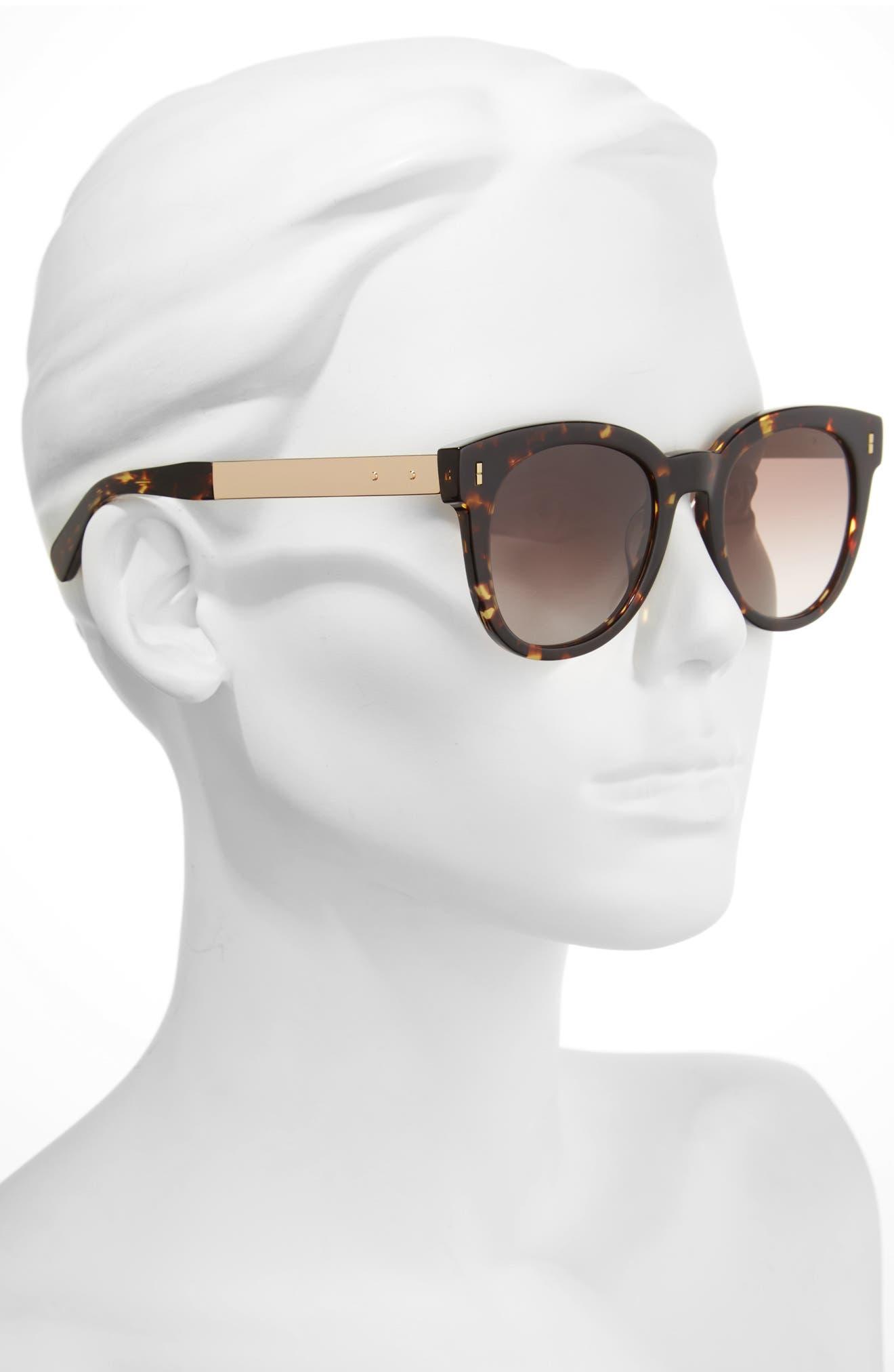 The Hannah 50mm Gradient Sunglasses,                             Alternate thumbnail 4, color,