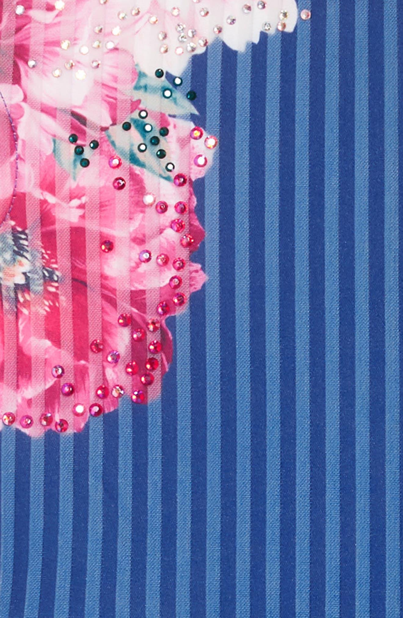 Stripe Scuba Dress,                             Alternate thumbnail 3, color,                             BLUE MULTI