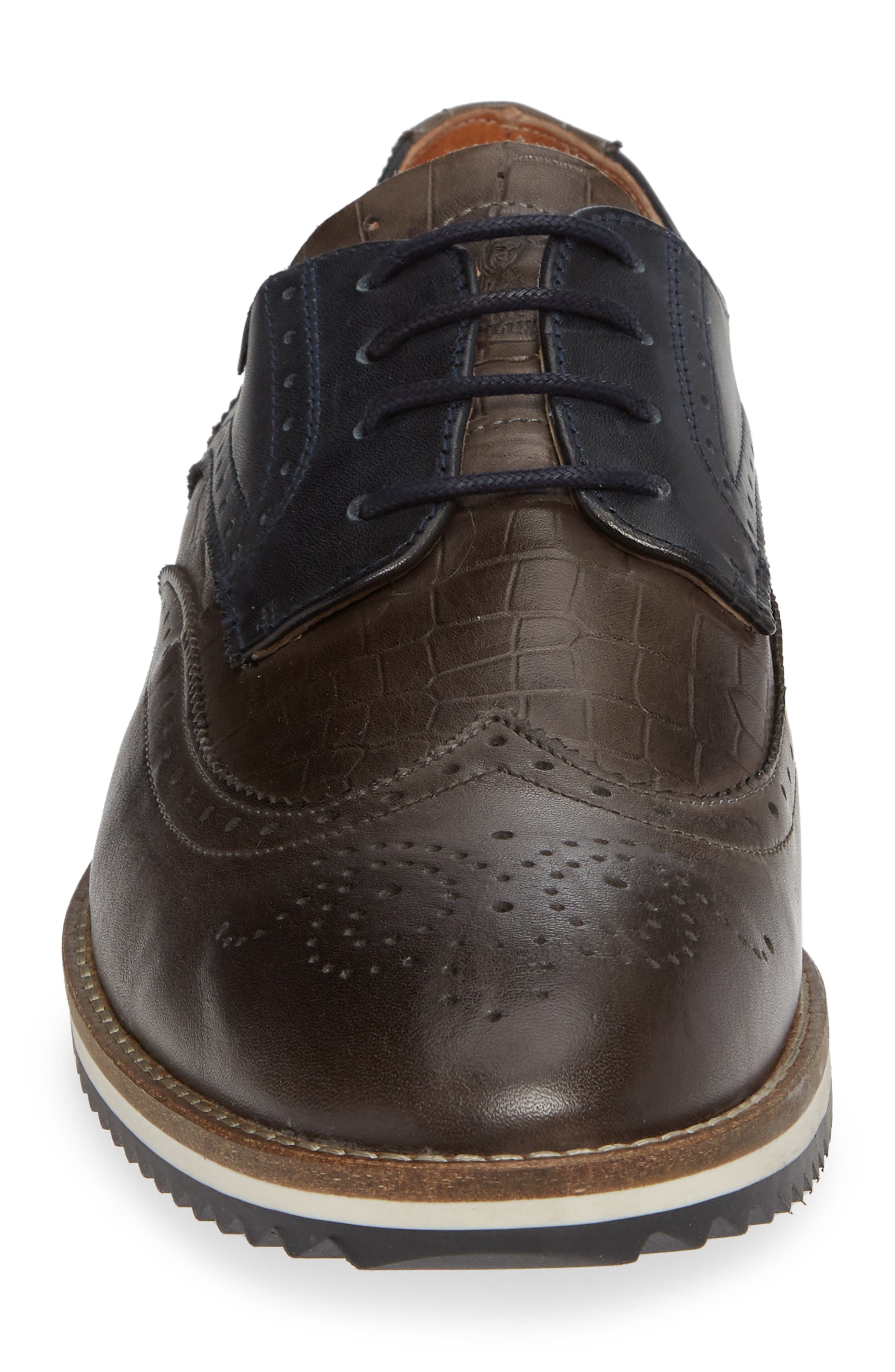 Pulsano Textured Wingtip,                             Alternate thumbnail 4, color,                             ANTHRACITE
