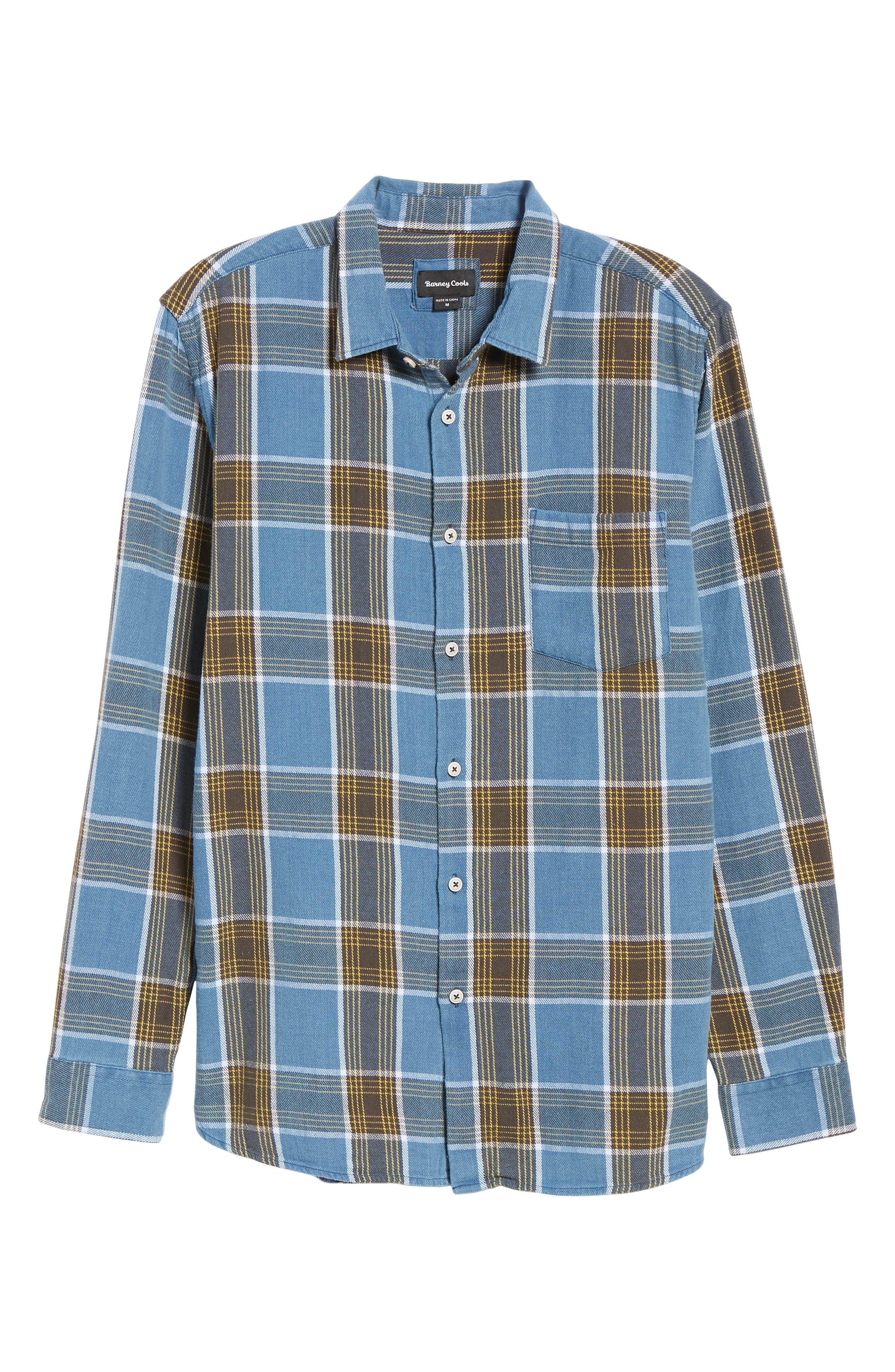 Plaid Flannel Shirt,                             Alternate thumbnail 5, color,                             450