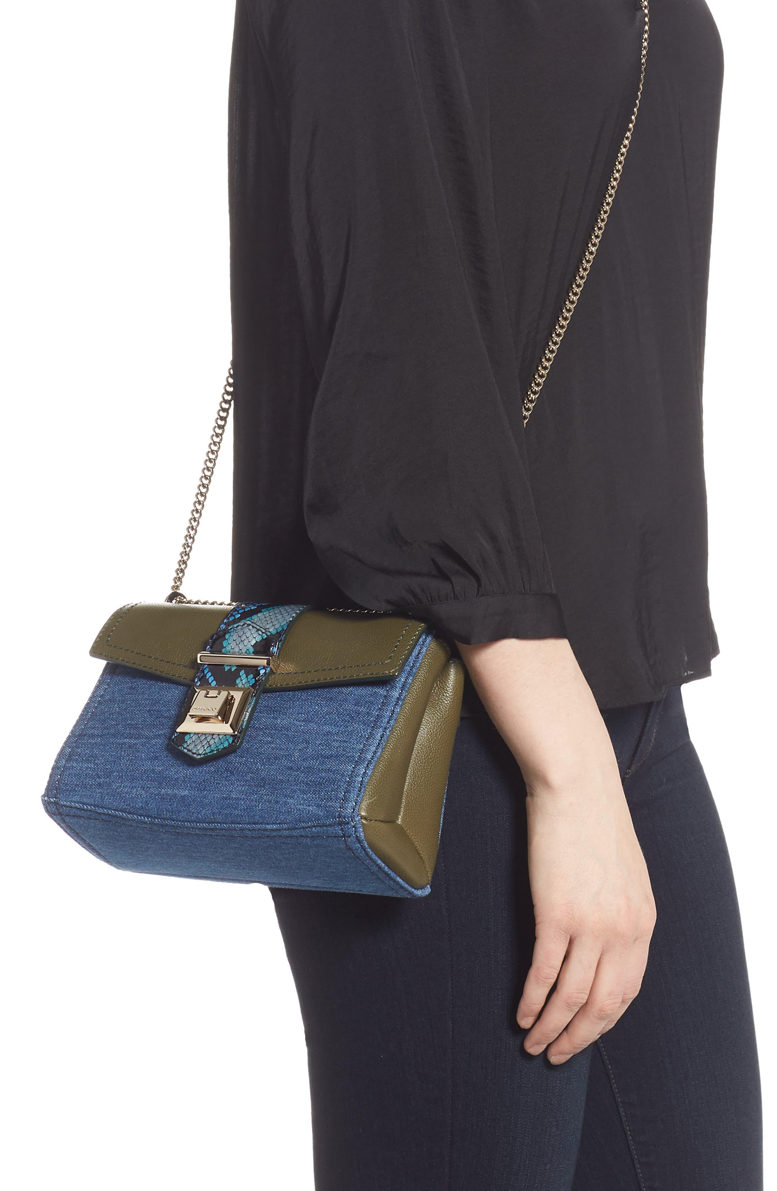 Marianne Leather & Genuine Snakeskin Crossbody Bag,                             Alternate thumbnail 2, color,                             NAVY MIX