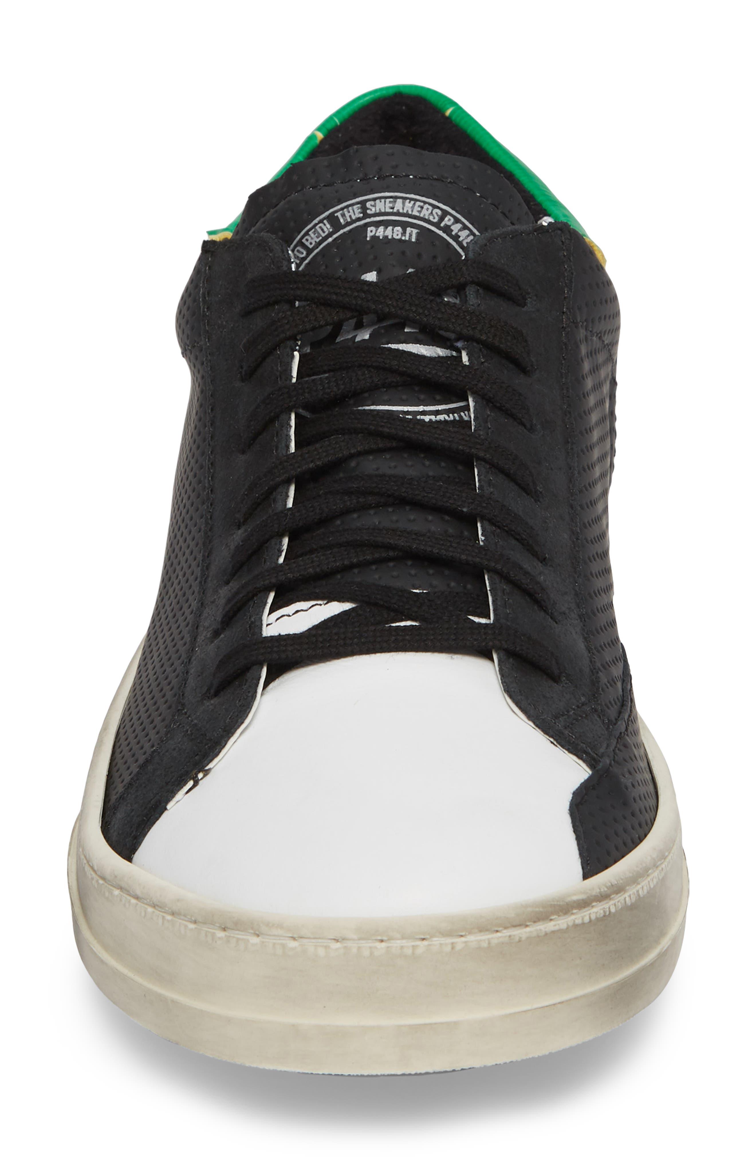 John Low Top Sneaker,                             Alternate thumbnail 4, color,                             BLACK