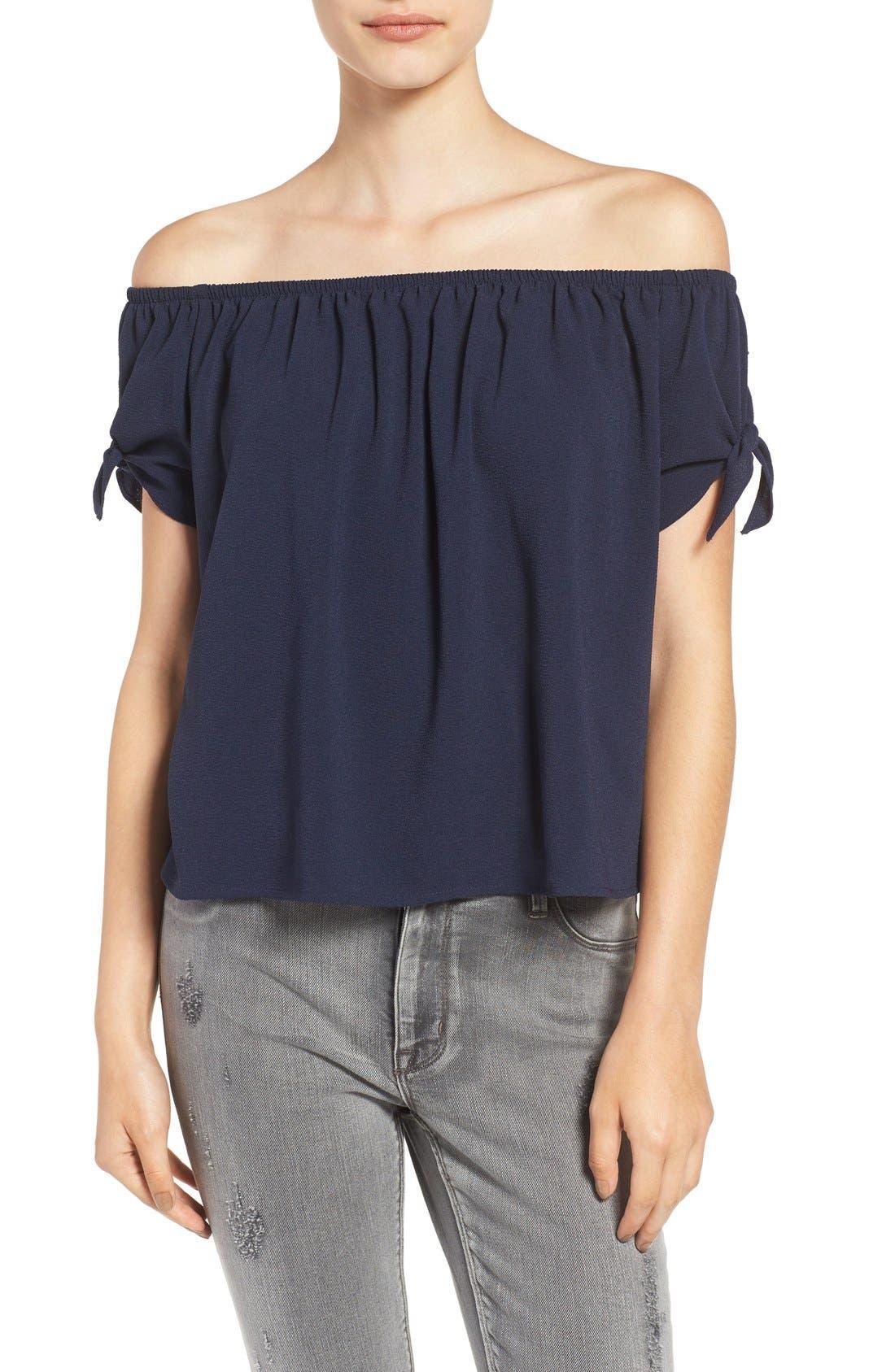 BP. Off the Shoulder Short Sleeve Top, Main, color, 410