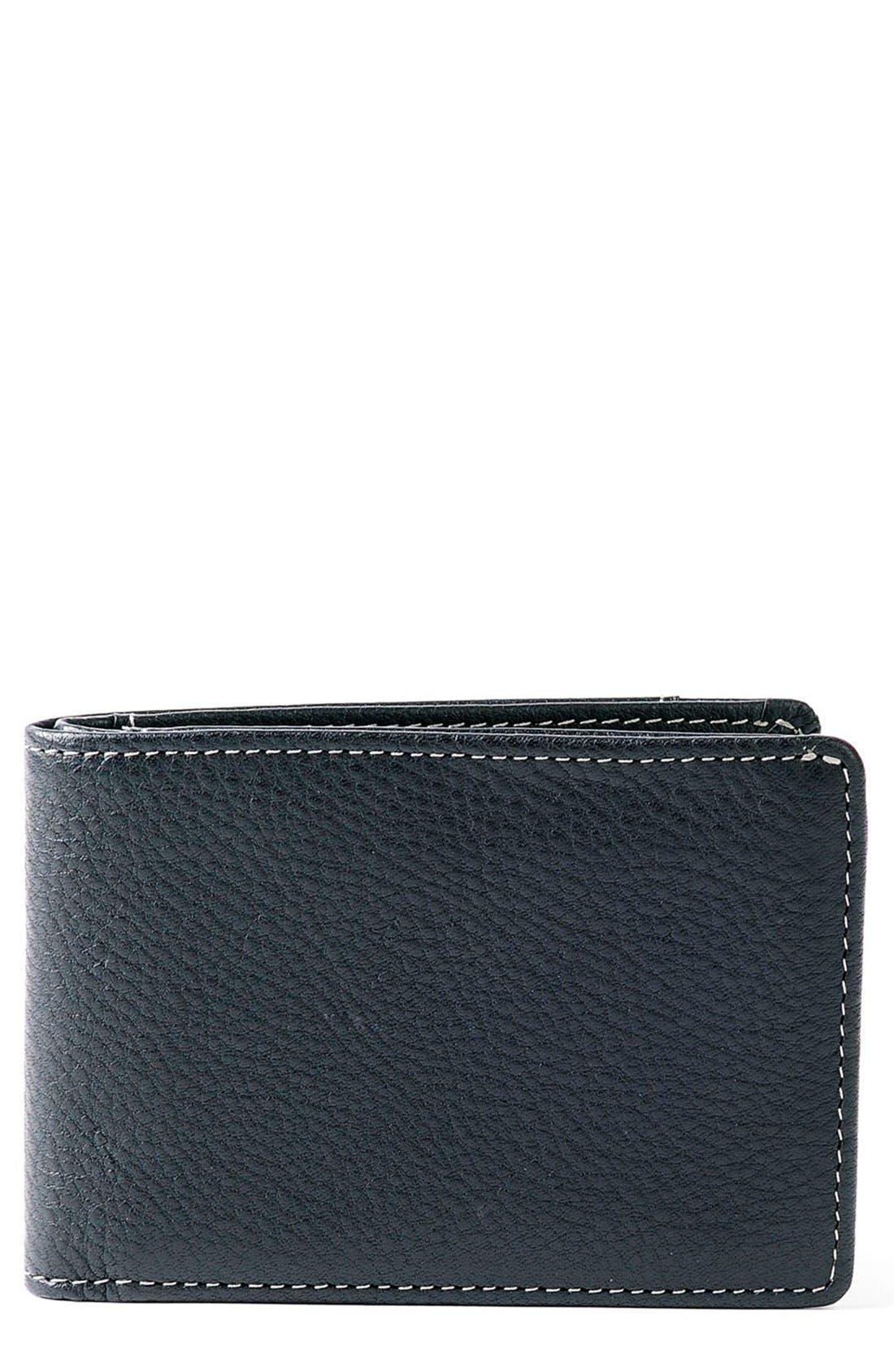 'Tyler' RFID Slimster Wallet,                             Main thumbnail 1, color,                             BLACK
