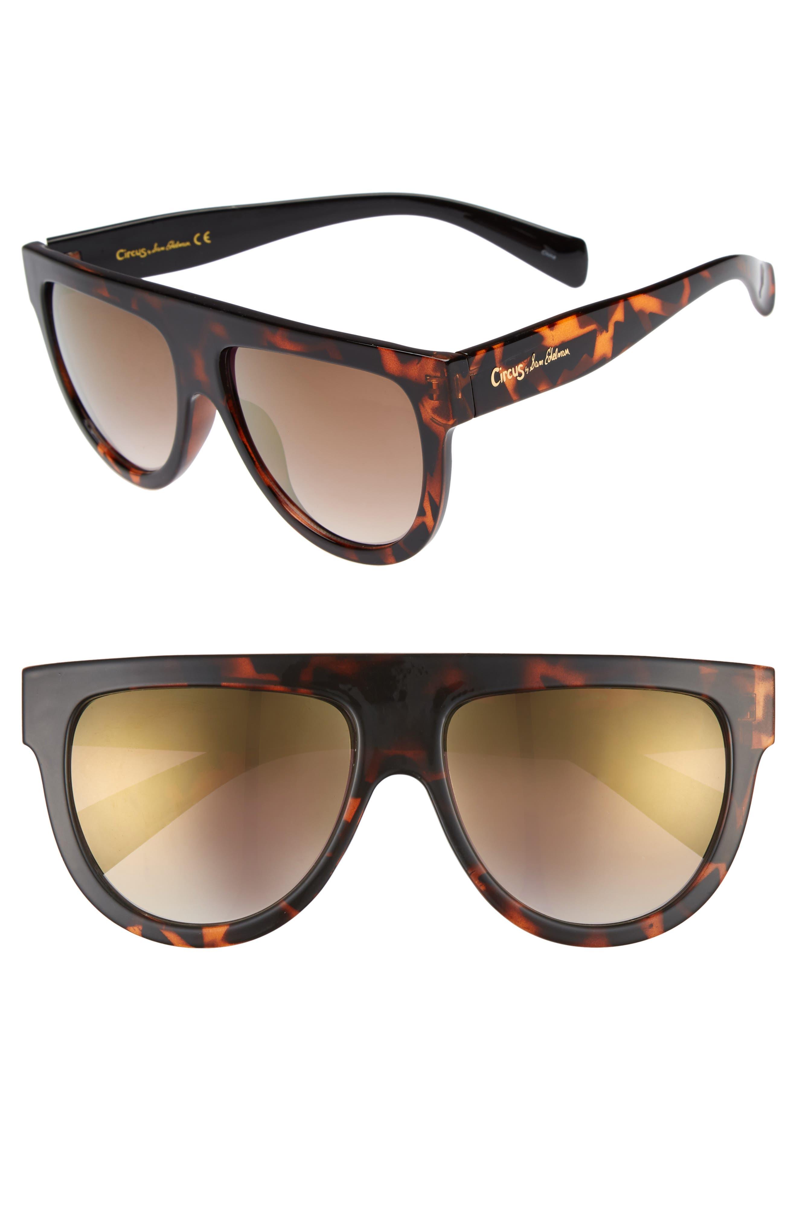 68mm Flat Top Sunglasses,                             Main thumbnail 1, color,