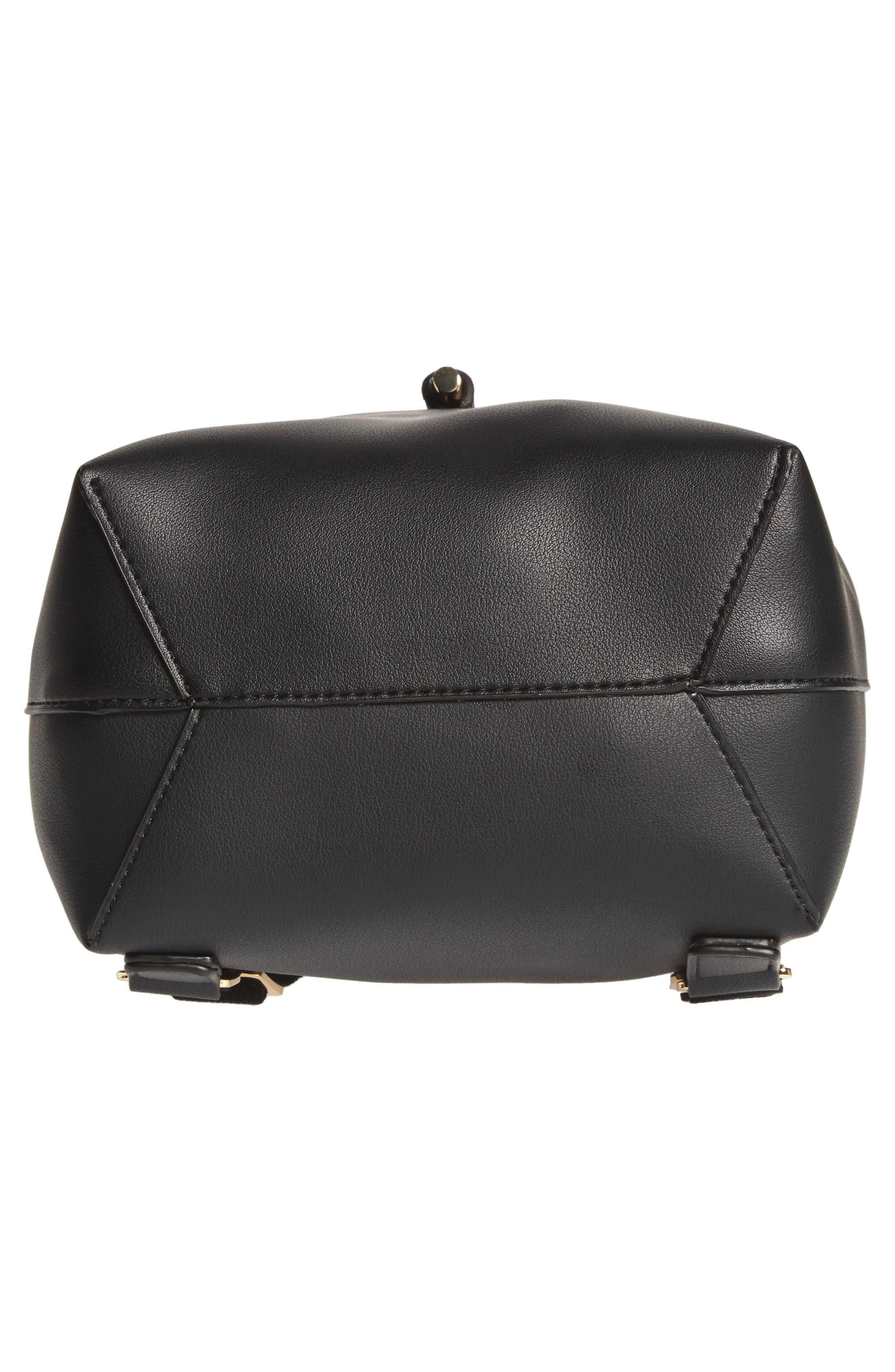 Blake Mini Faux Leather Backpack,                             Alternate thumbnail 11, color,
