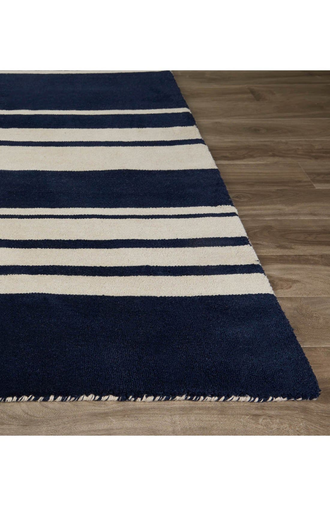 'astor stripe' wool rug,                             Alternate thumbnail 8, color,
