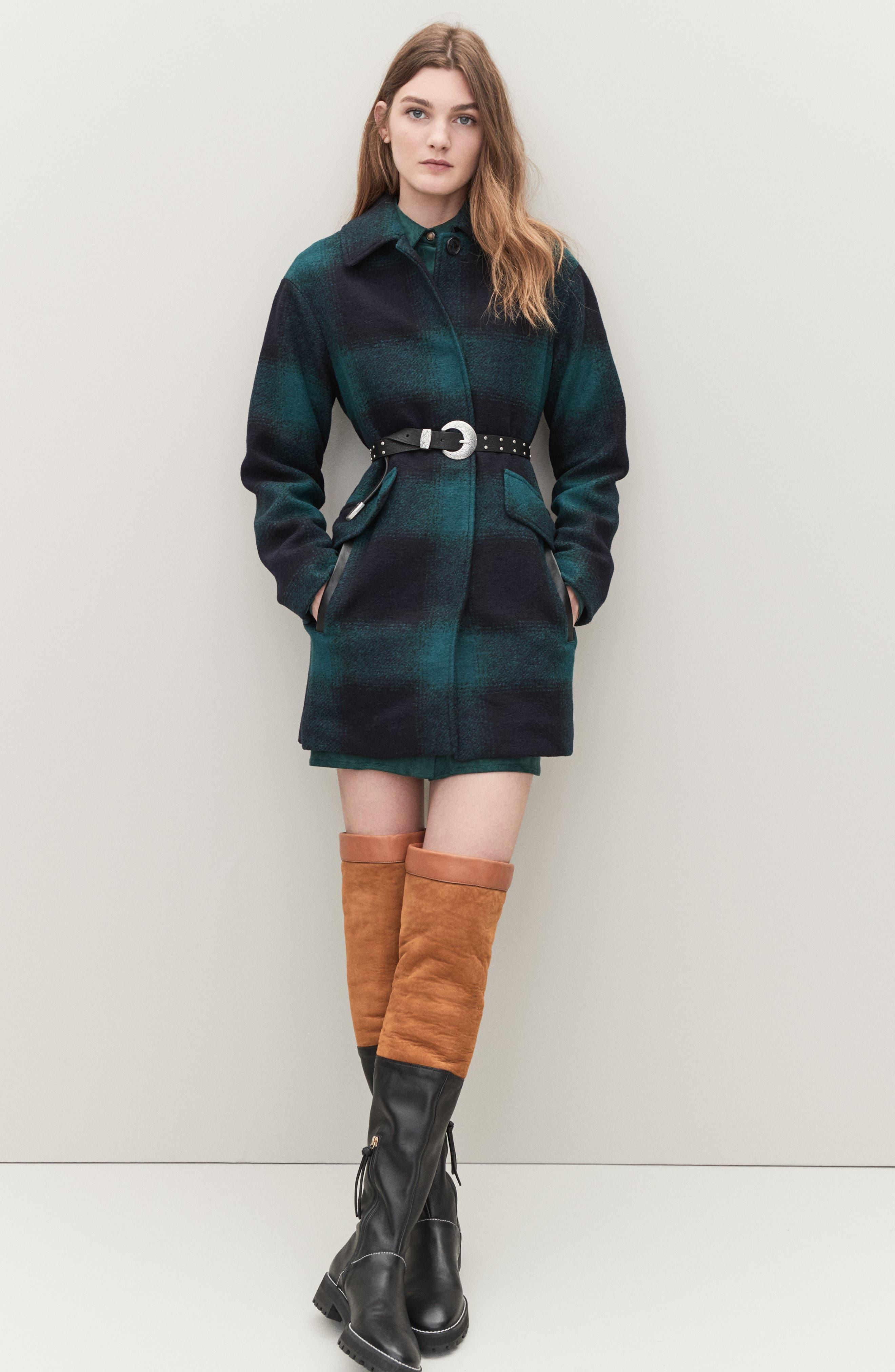 Renata Genuine Shearling Boot,                             Alternate thumbnail 8, color,                             BLACK ANDORRA