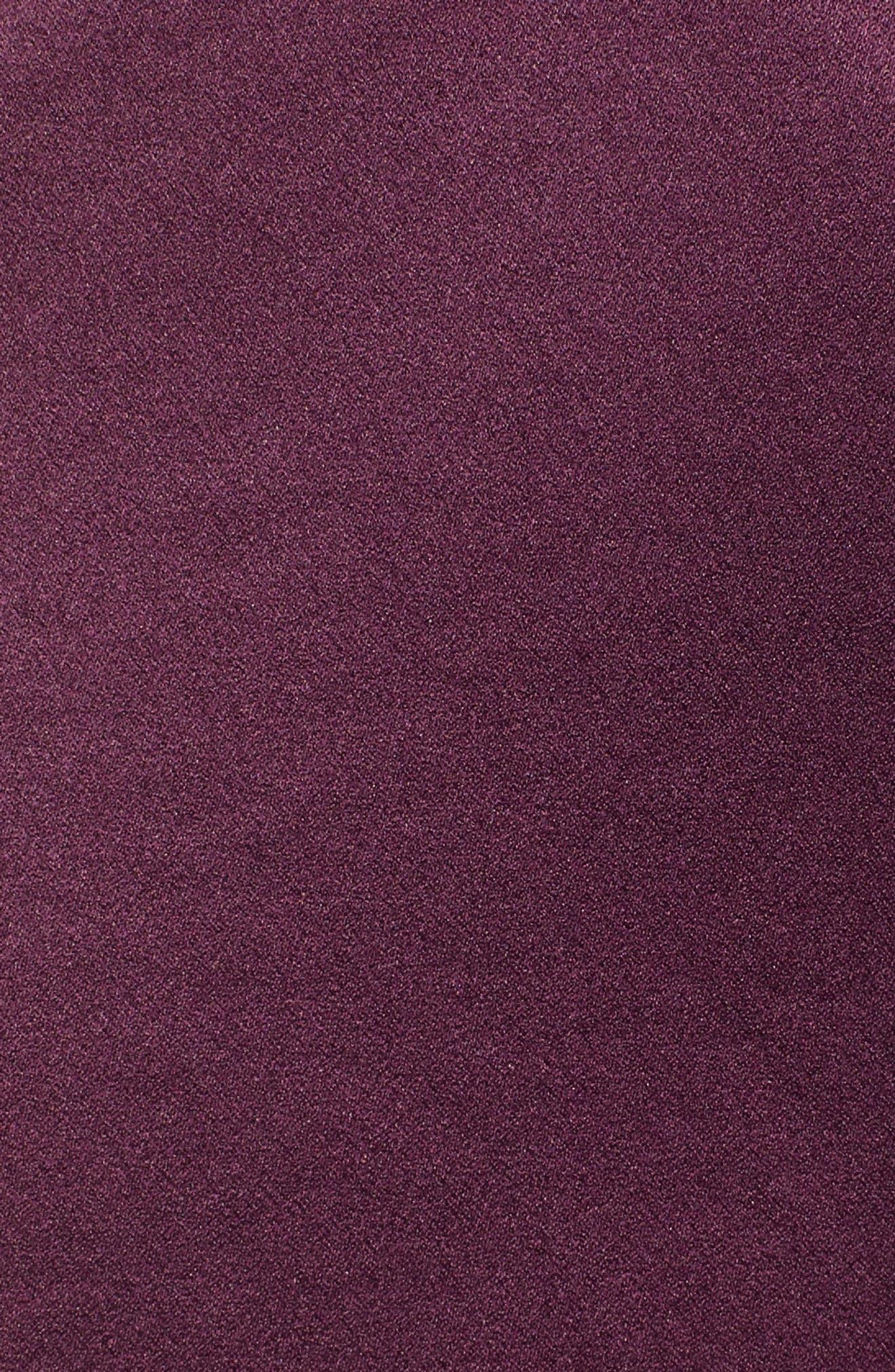 BAND OF GYPSIES,                             Payton Ruffled High/Low Dress,                             Alternate thumbnail 6, color,                             PLUM