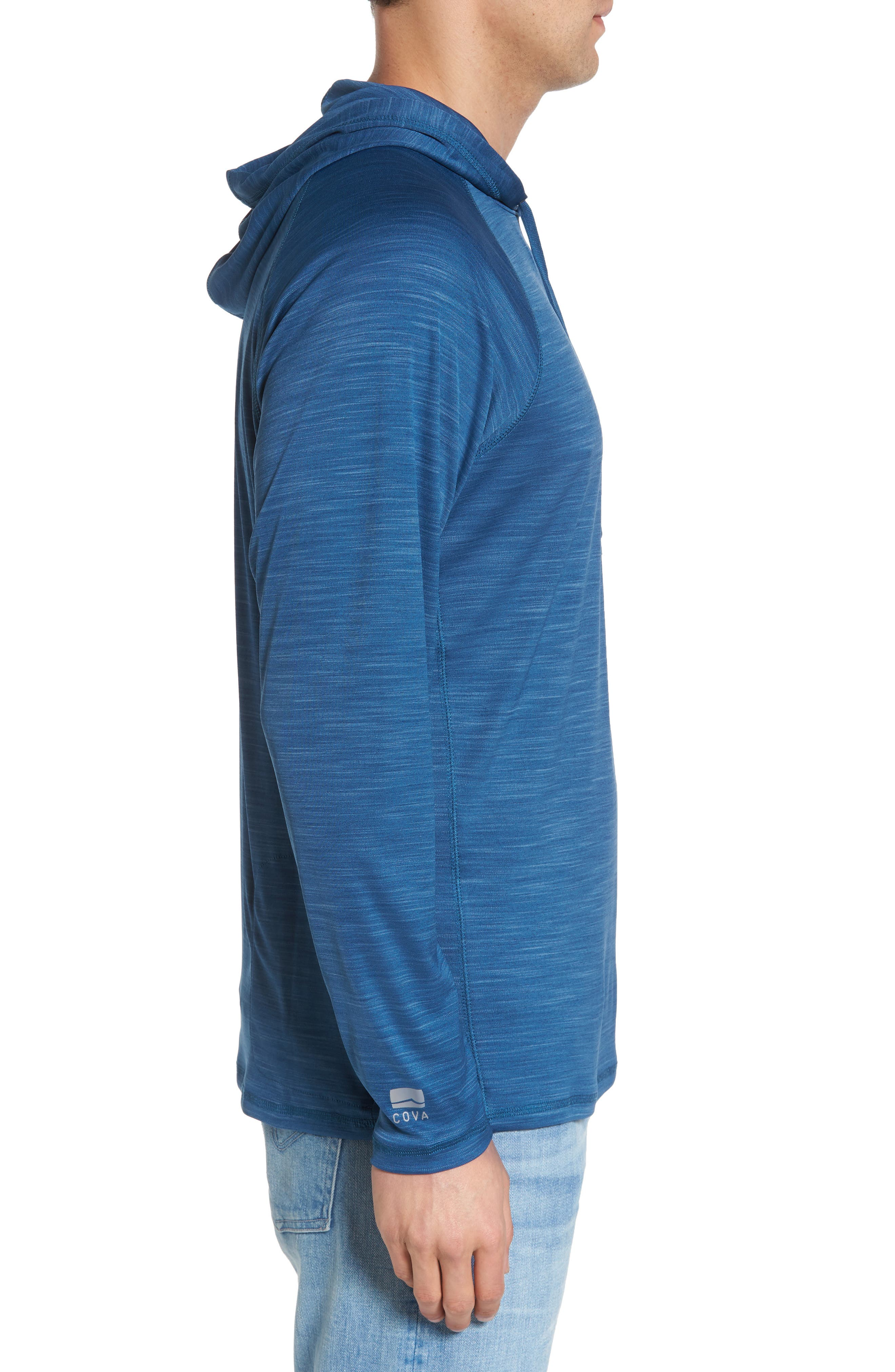 Undercover Hooded Long Sleeve Performance T-Shirt,                             Alternate thumbnail 6, color,