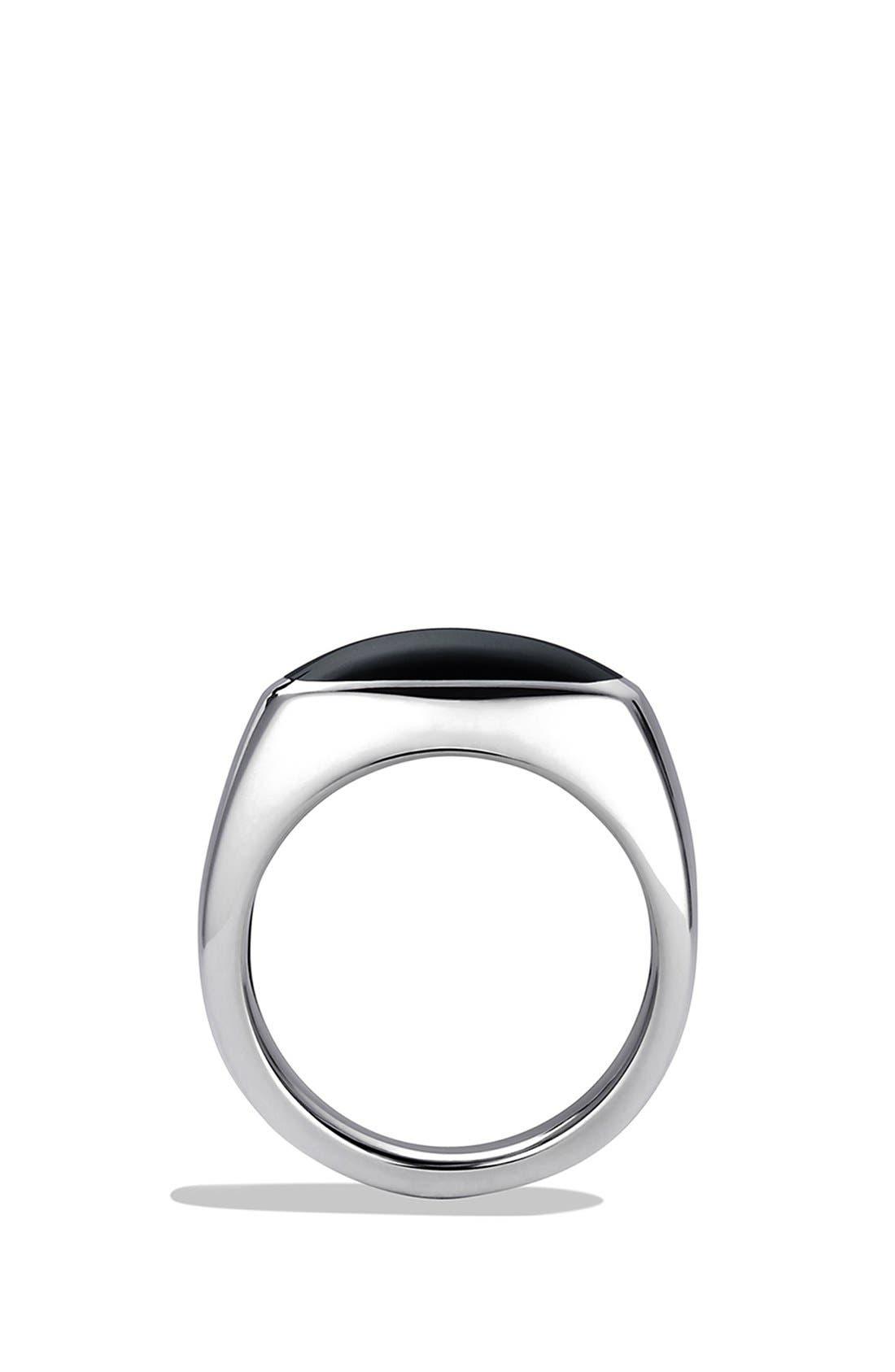 'Chevron' Signet Ring,                             Alternate thumbnail 2, color,                             001